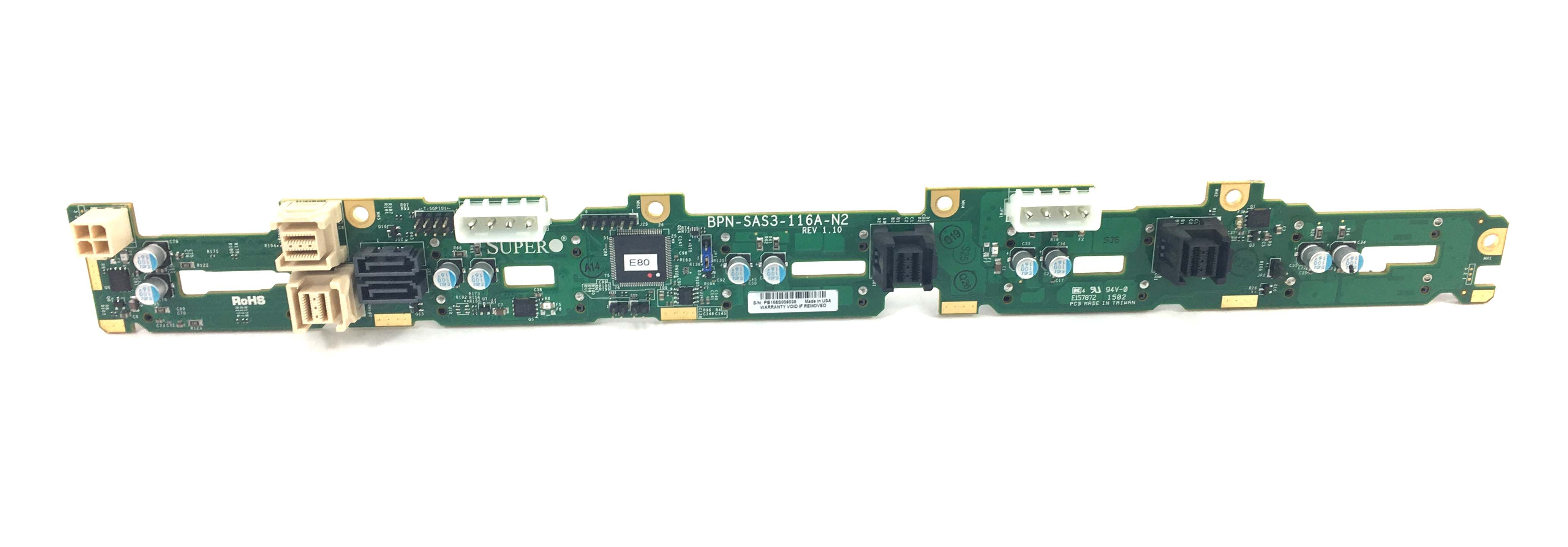 Supermicro 10-Bay SFF Hard Drive Backplane (BPN-SAS3-116A-N2)