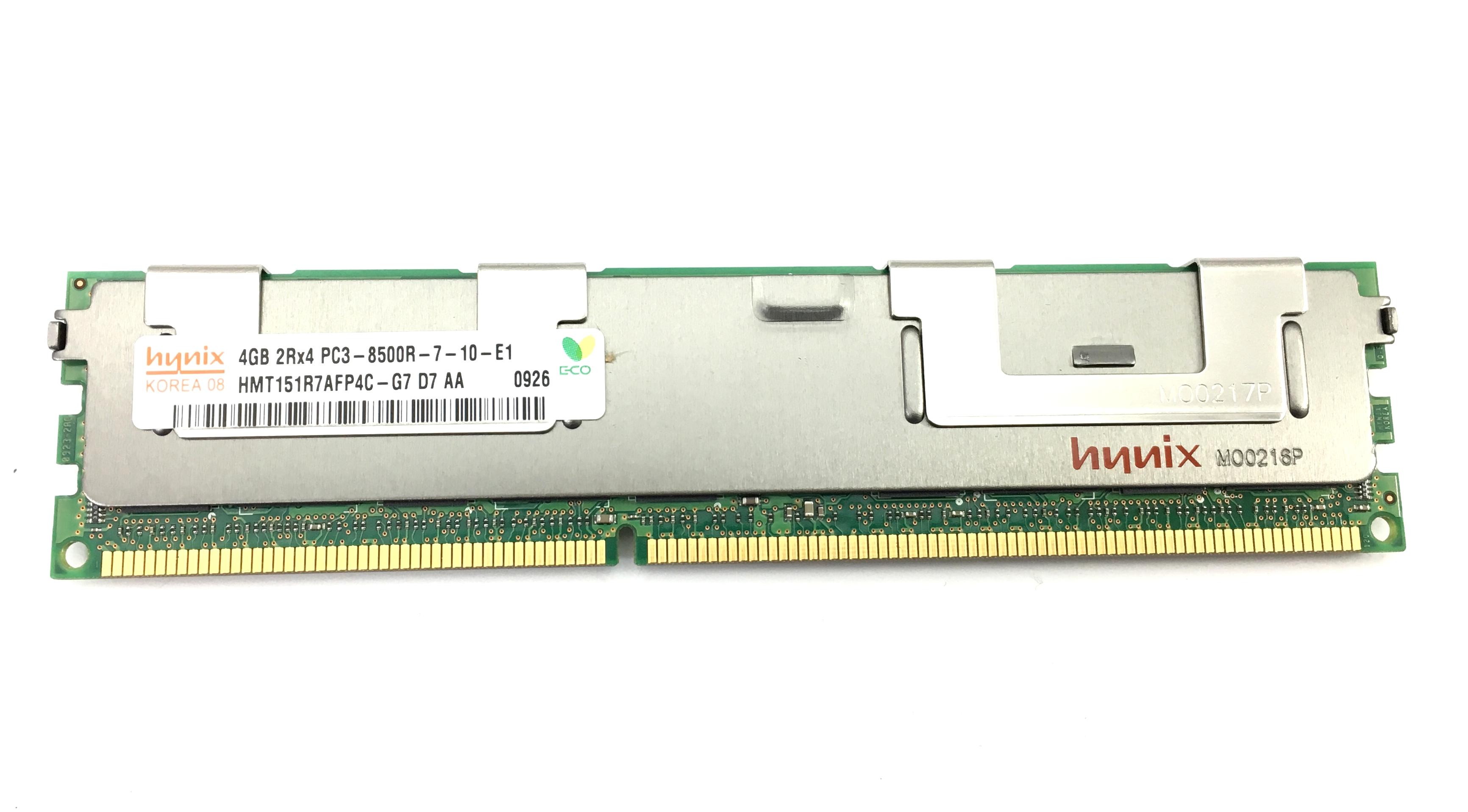 Hynix 4GB 2Rx4 PC3-8500R DDR3 1066MHz ECC REG Memory (HMT151R7AFP4C-G7)