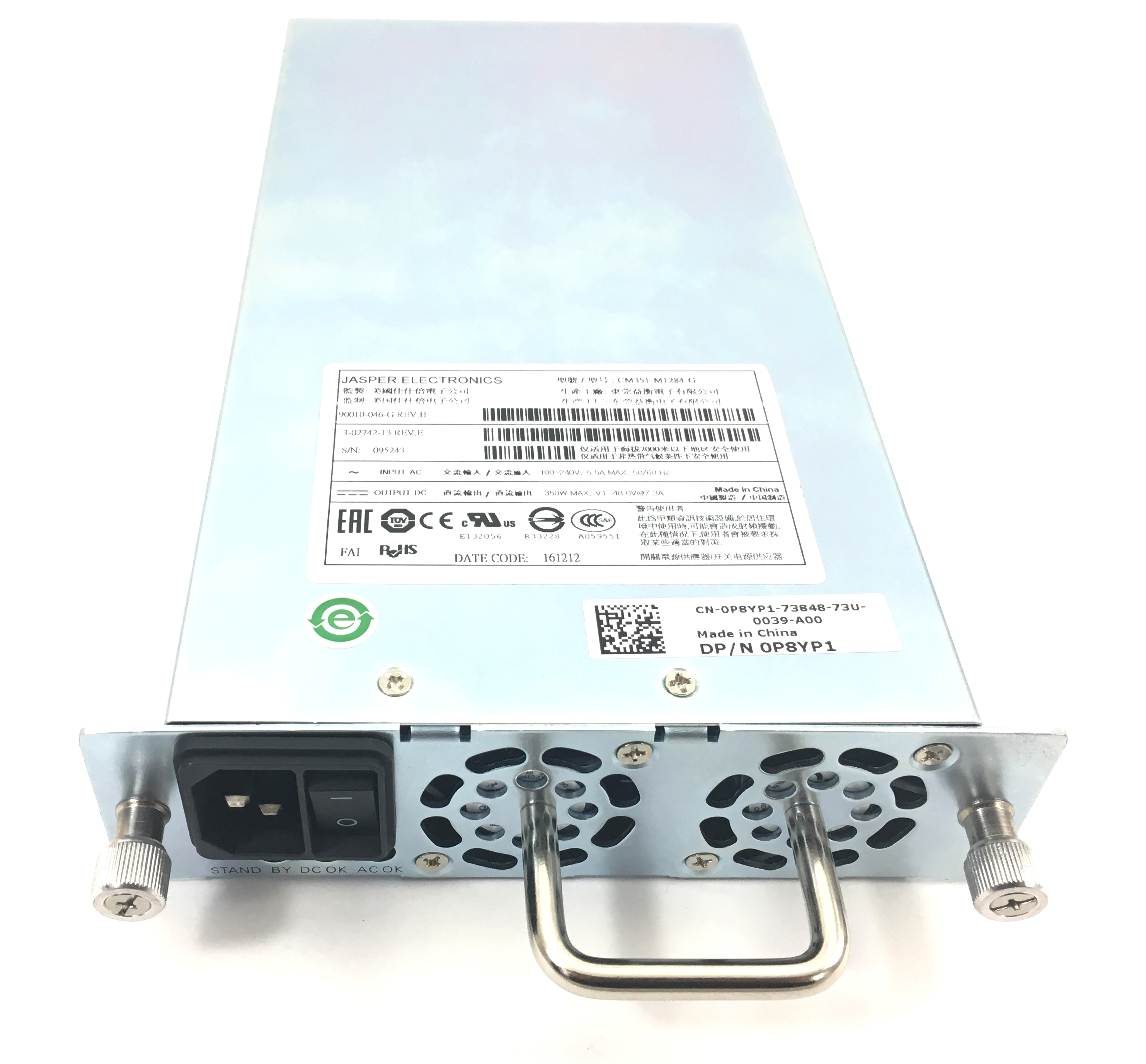Dell Jasper 350W Power Supply For Ml6000 Tape Library (P8YP1)