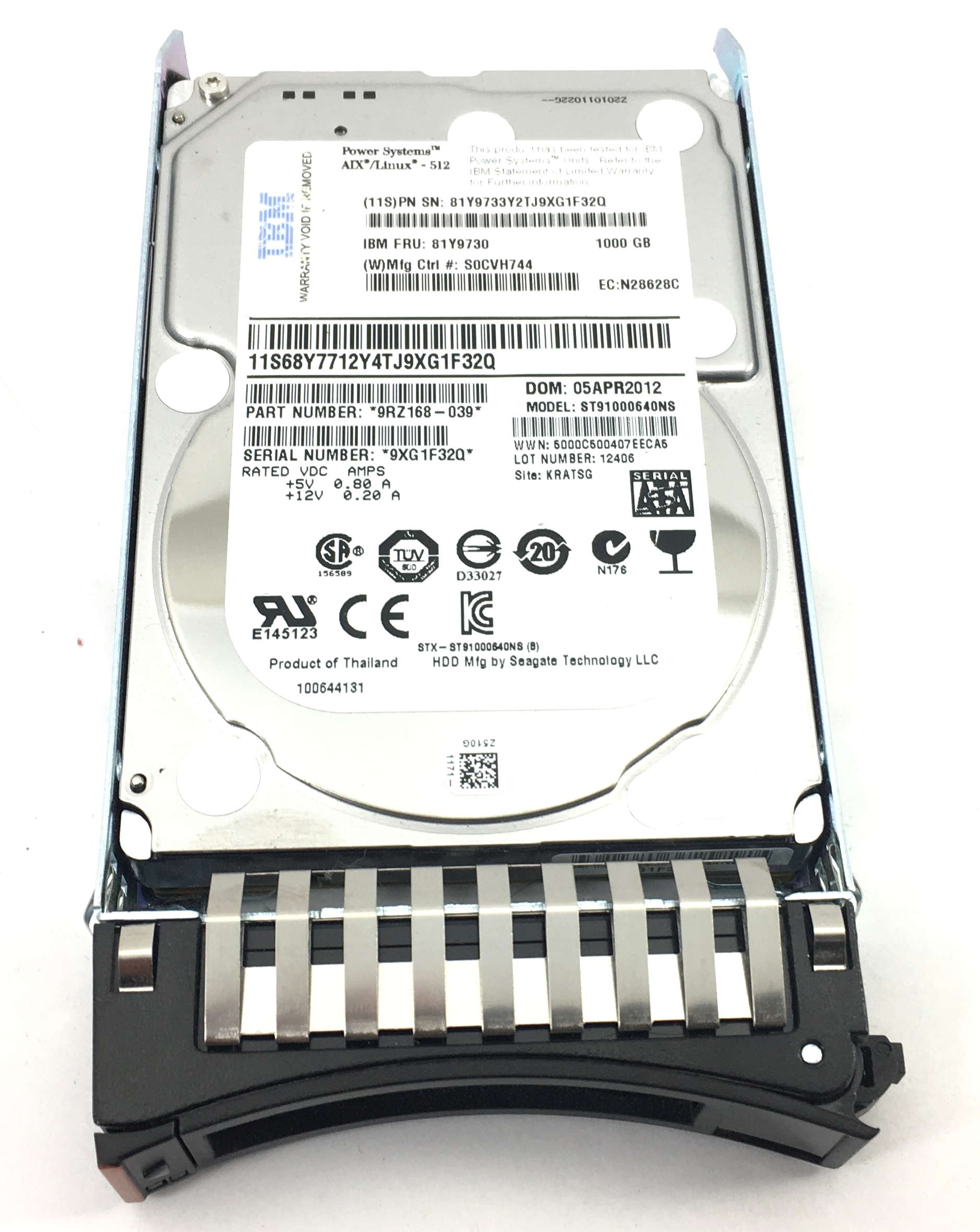 Lenovo IBM 46U3524 ThinkServer RD240 HDD Backplane