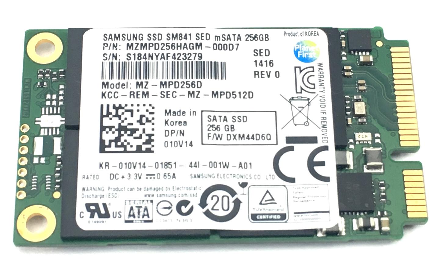 Dell Samsung SSD Sm841 256GB MSATA SED Solid State Drive (10V14)