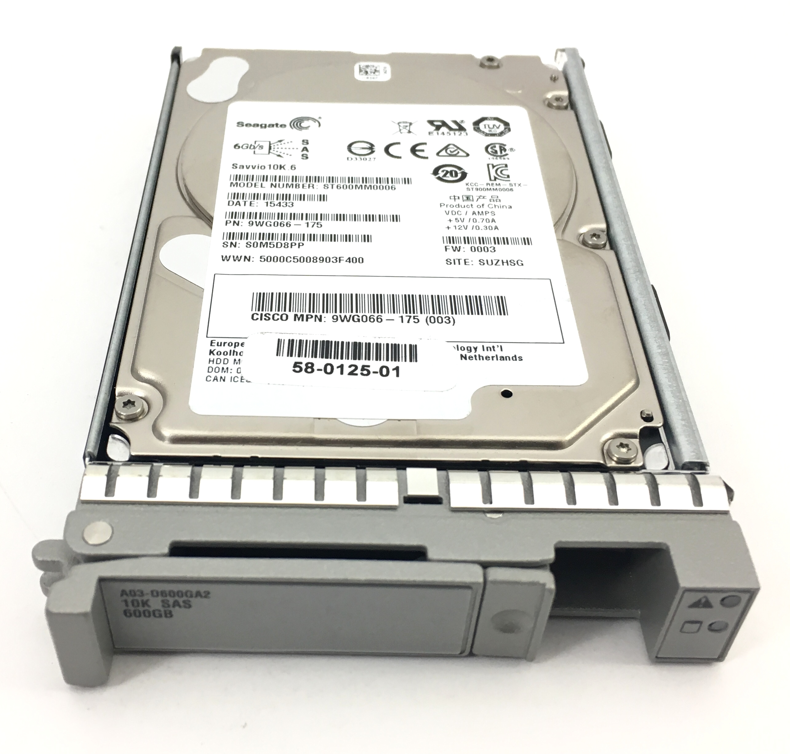 Cisco UCS 600GB 10K 6Gbps SAS 2.5'' Hard Drive (A03-D600GA2)