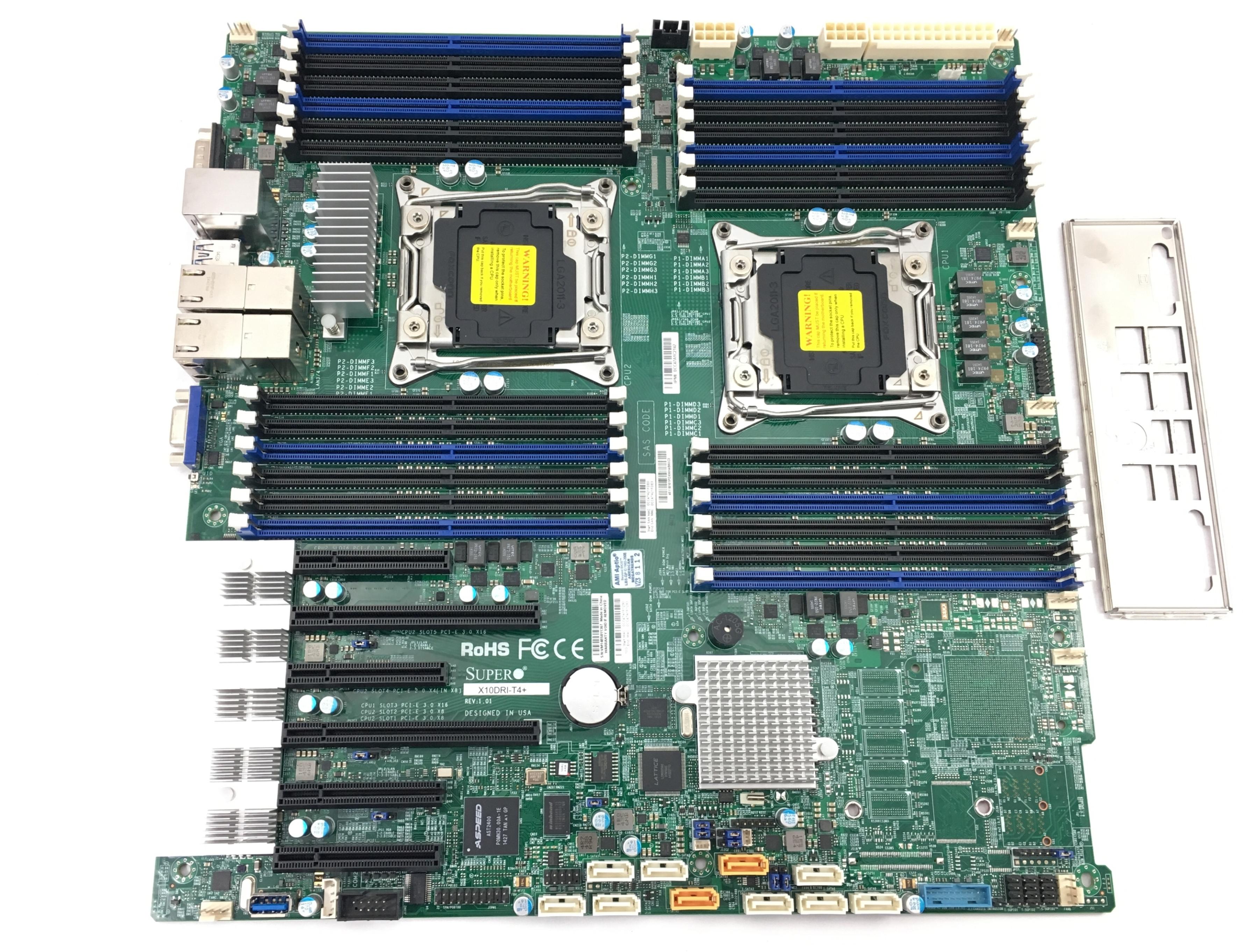 Supermicro EEATX Dual LGA2011 Socket C612 24 DIMM Slots System Board (X10DRI-T4+)