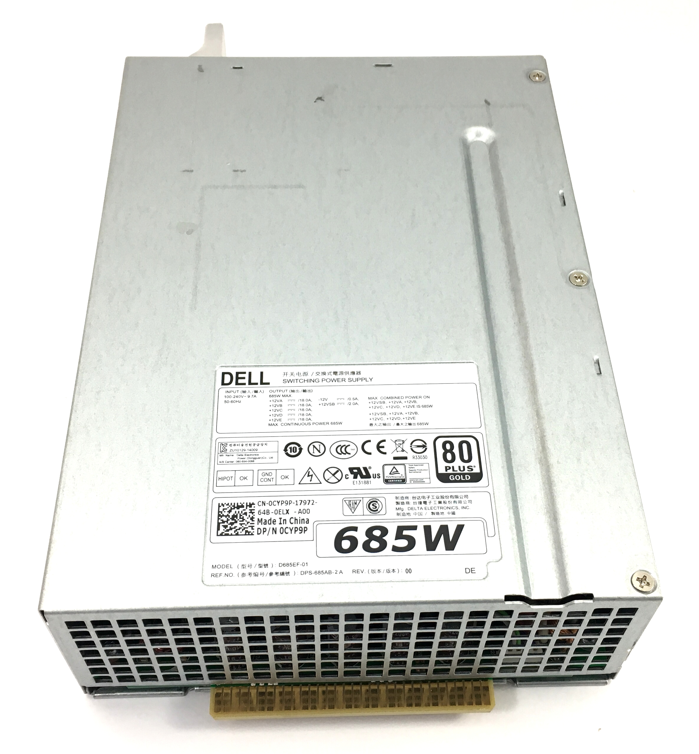 Dell D685Ef-01 650W Switching Power Supply (CYP9P)