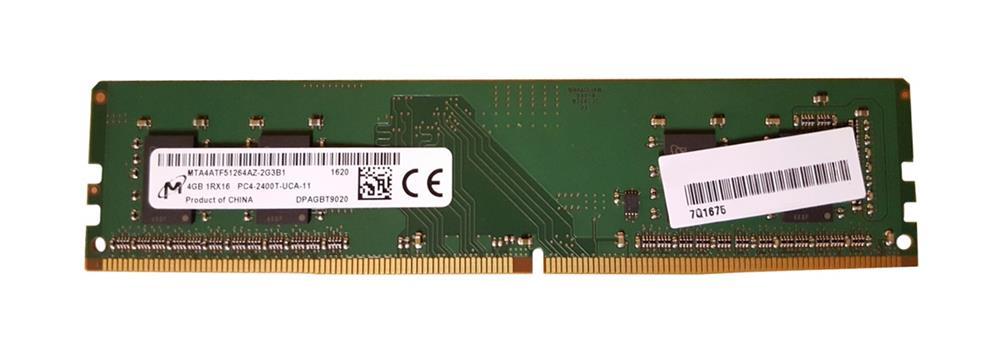 Micron 4GB 1RX16 PC4-2400T-U DDR4 Unbuffered Non ECC Unregistered Memory (MTA4ATF51264AZ-2G3B1)