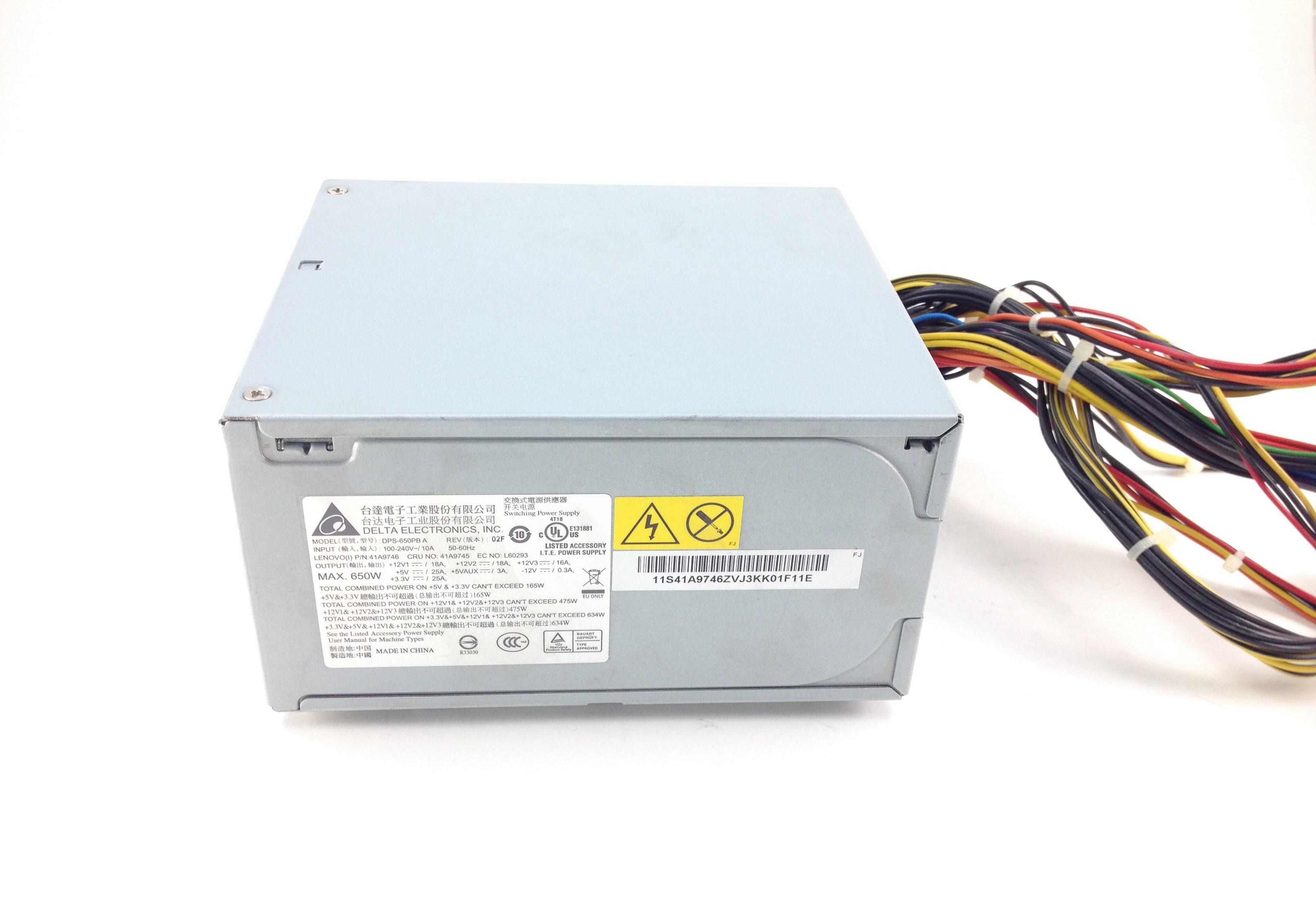 Lenovo Thinkstation S10 650W Power Supply (41A9745)