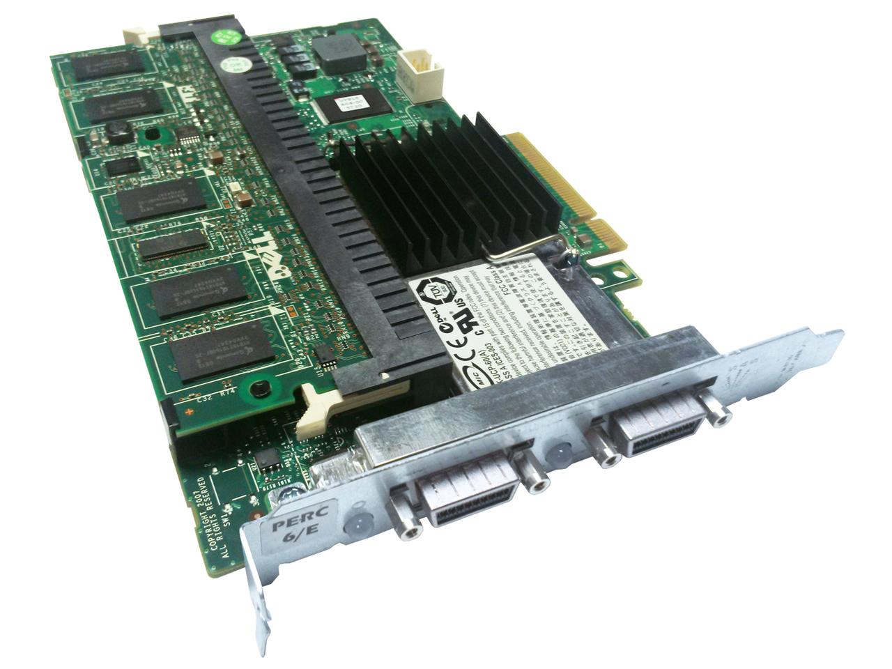 DELL PERC 6/E PCI-E 512MB BBU SAS/SATA RAID CONTROLLER (0M623J)