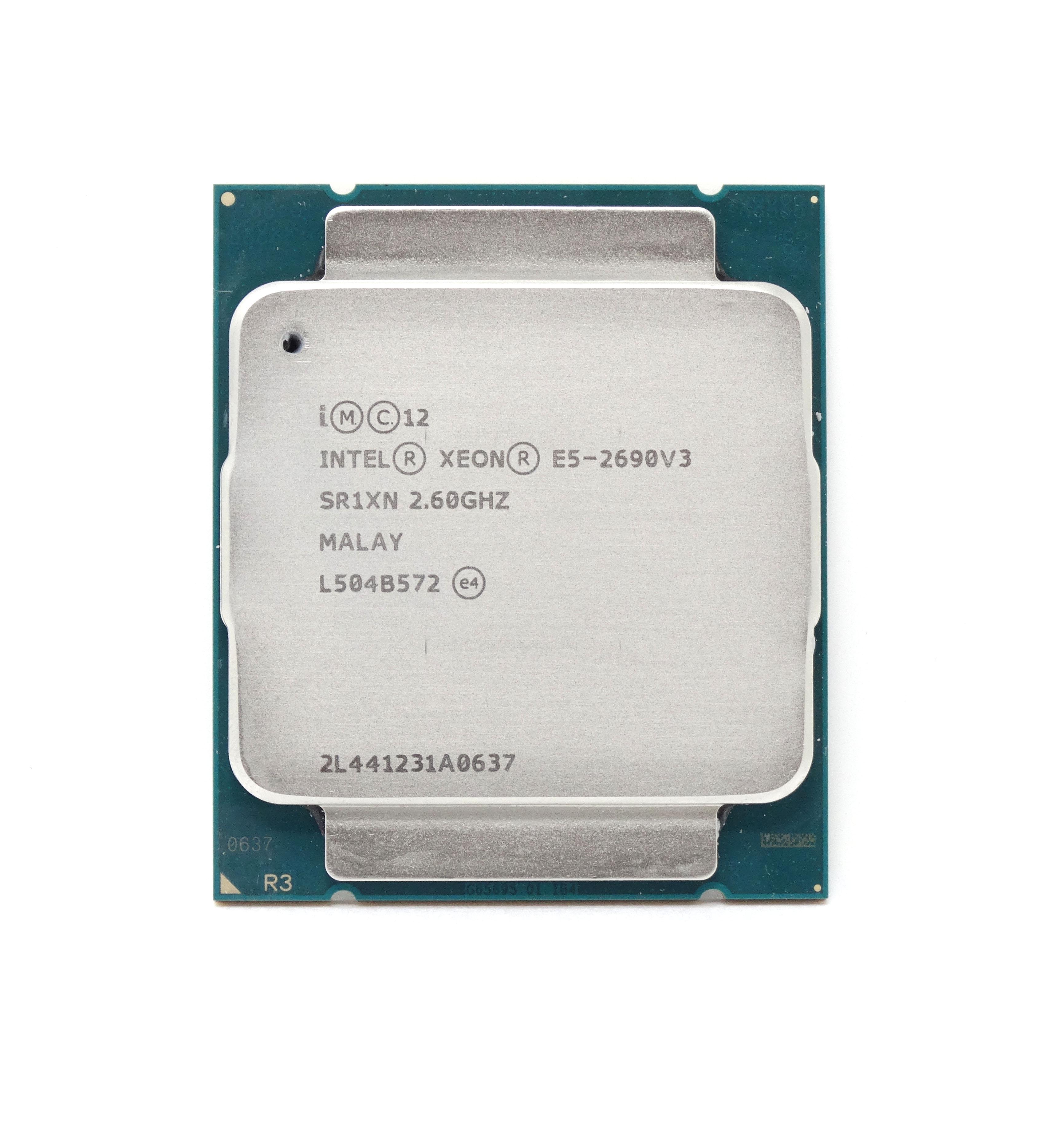 - CPU Only Intel Xeon E5-2690 v3 2.6GHz 12Core LGA-2011-v3 CPU Processor (00KA076 - CPU ONLY)