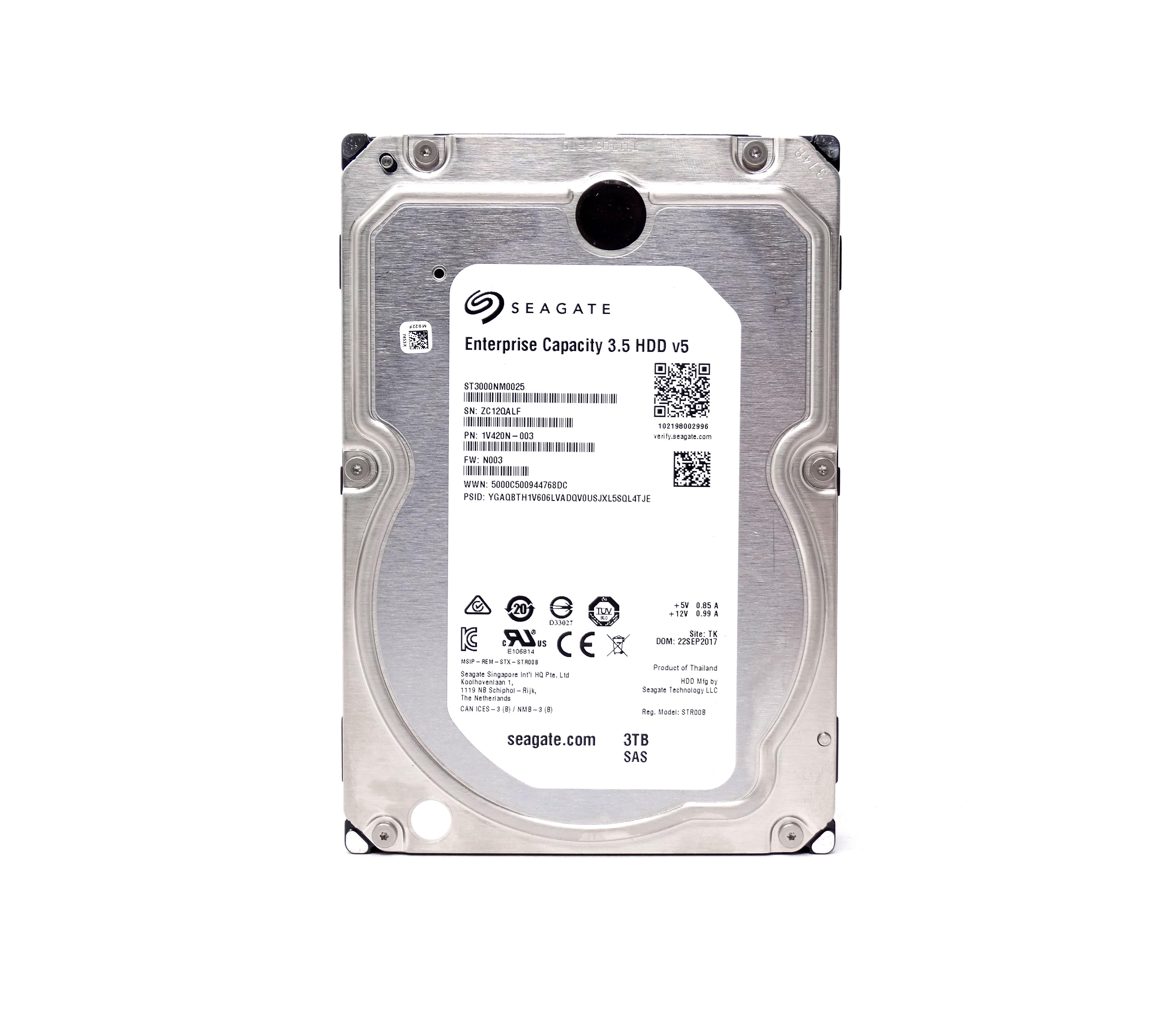 Seagate Enterprise 3TB 7.2K 12Gbps SAS 3.5'' Hard Drive (ST3000NM0025)