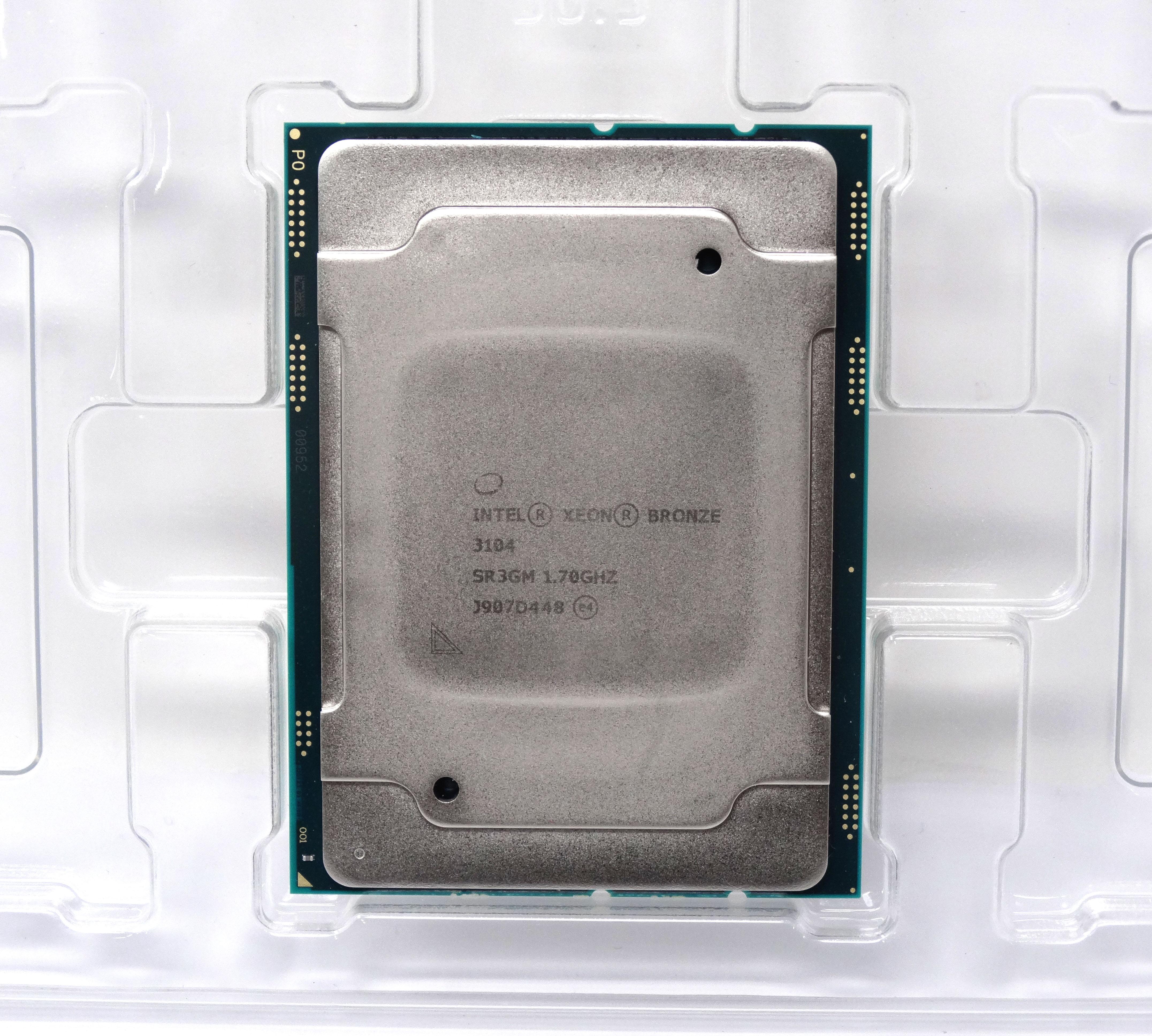 - CPU Only Intel Xeon Bronze 3104 6 Cores 1.7GHz 8.25MB CPU LGA 3647 Processor (872006-B21 - CPU ONLY)