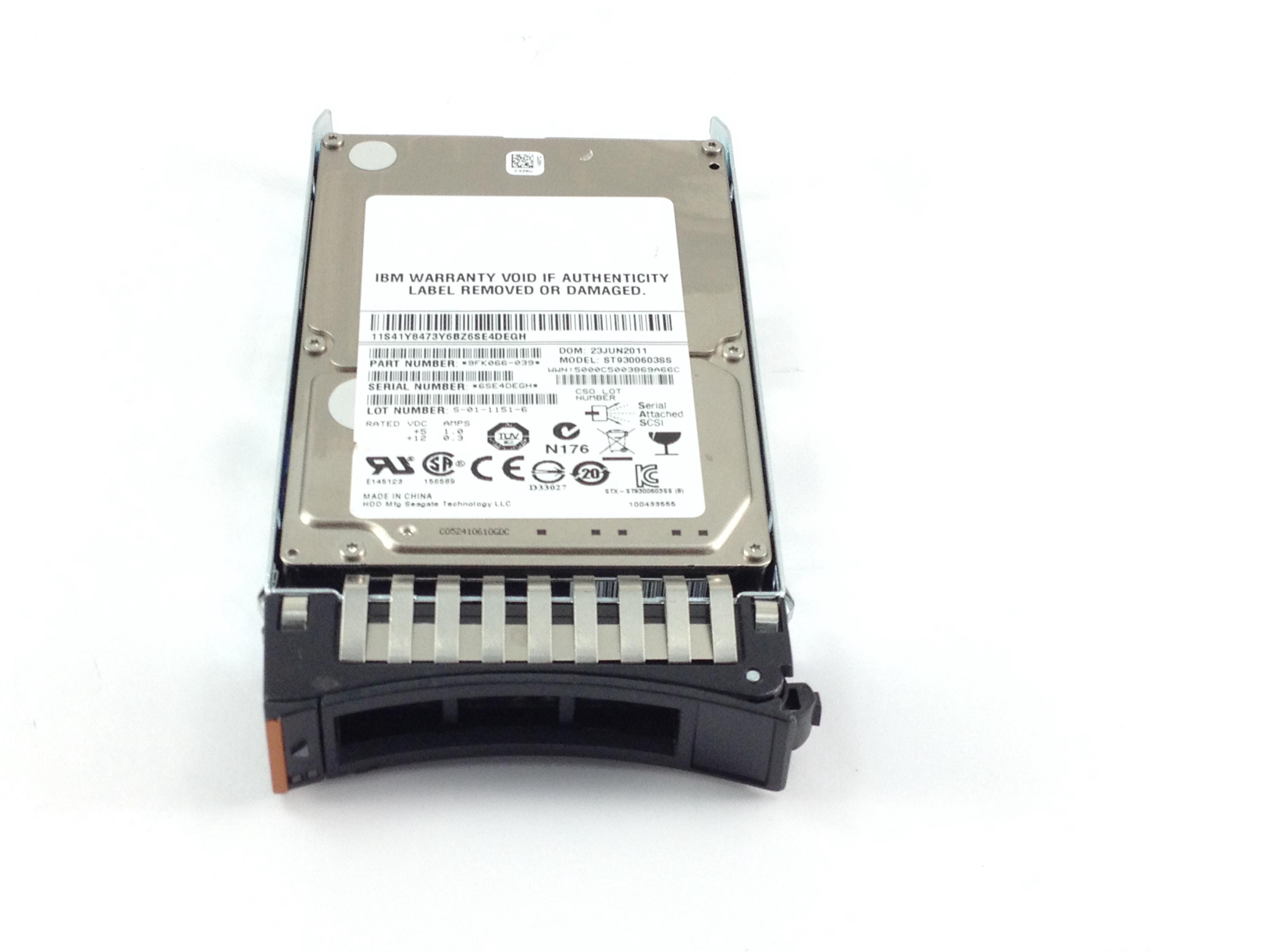 IBM 300GB 10K 6Gbps SAS 2.5'' Hard Drive w/ Tray (41Y8473)