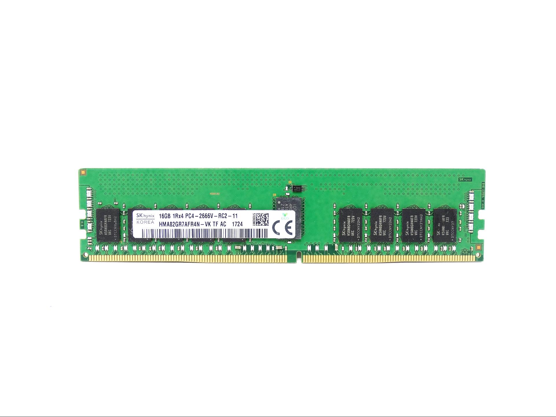 Hynix 16GB 1Rx4 PC4-21300 DDR4 2666MHz ECC Registered Memory (HMA82GR7AFR4N-VK)