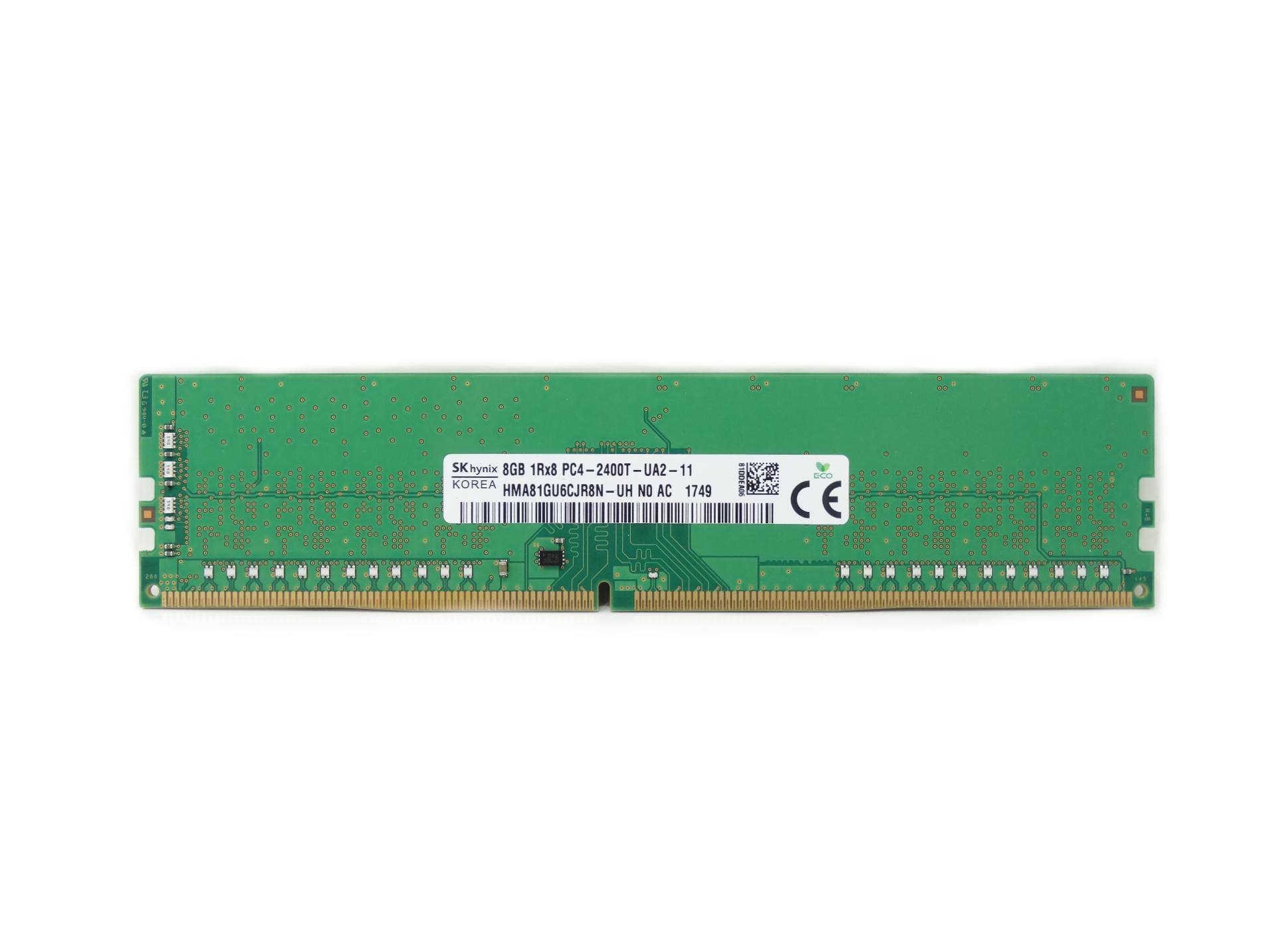 Hynix 8GB 1Rx8 PC4-2400T-U DDR4 2400MHz Non-ECC Unregistered RAM Memory (HMA81GU6CJR8N-UH)