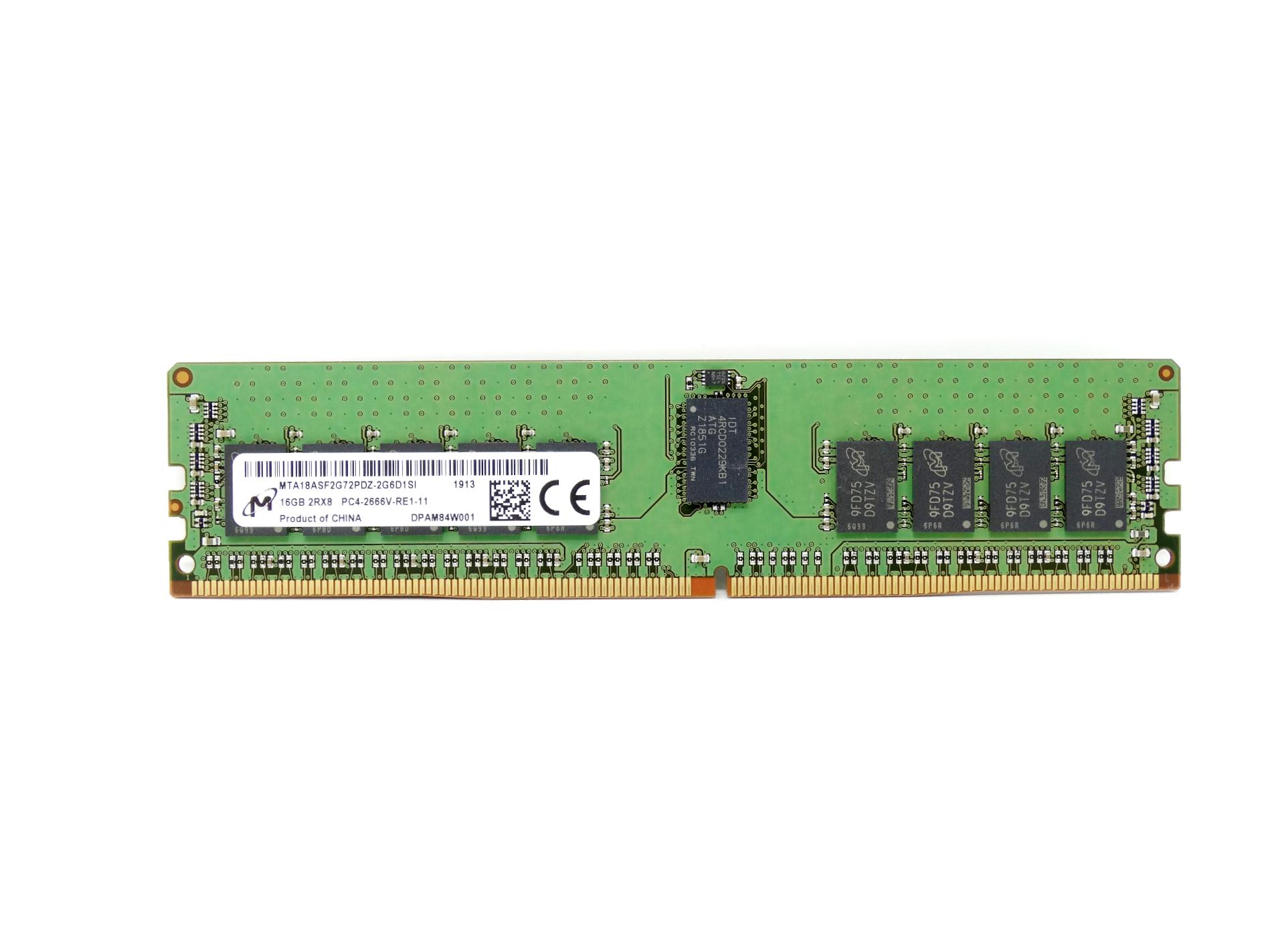 Micron 16GB 2Rx8 PC4-2666V DDR4 2666MHz ECC Registered Memory (MTA18ASF2G72PDZ-2G6D1)