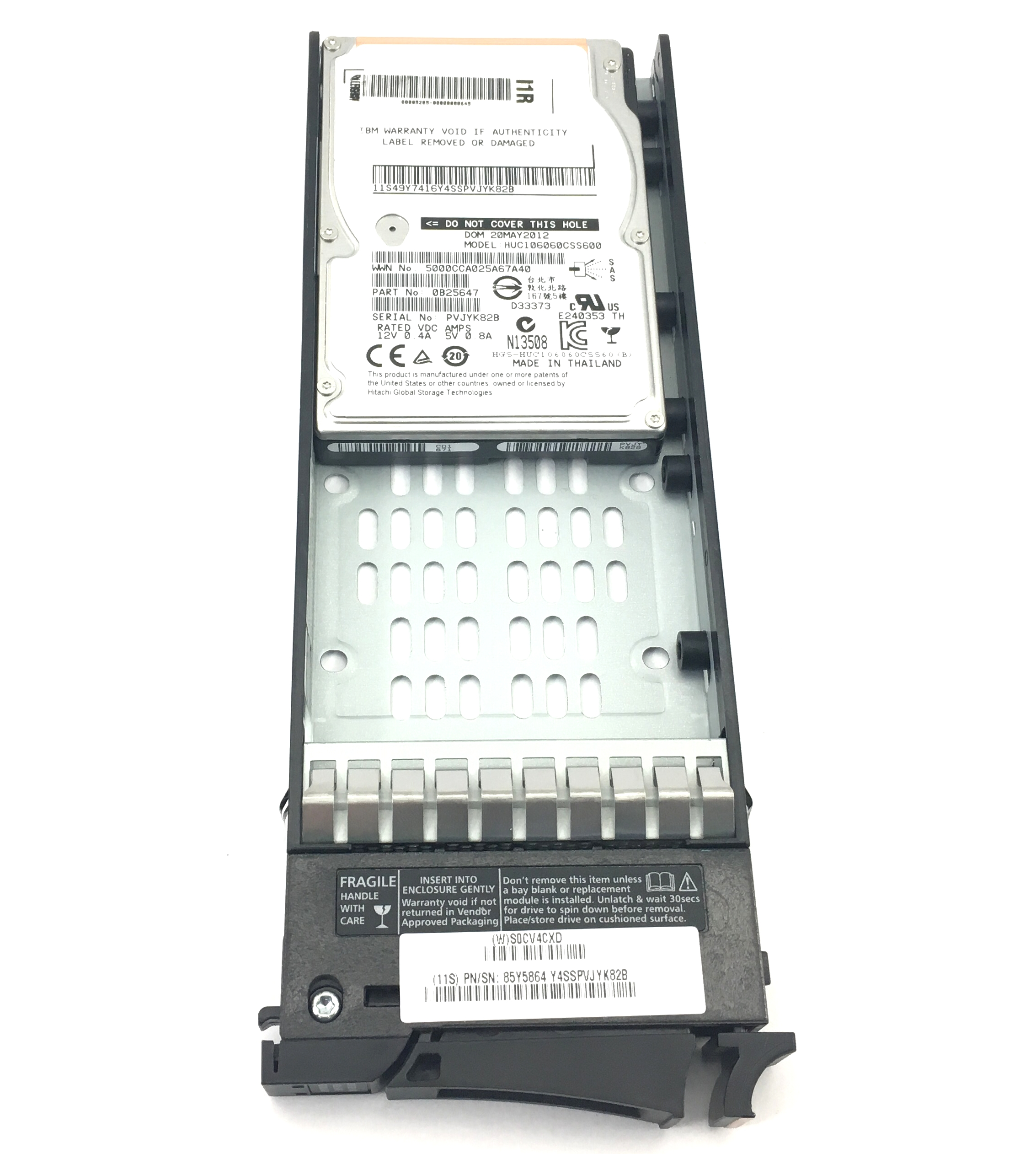IBM 600GB 10K 6GBPS SAS 2.5'' HARD DRIVE FOR STORWIZE V7000 (00L4521)