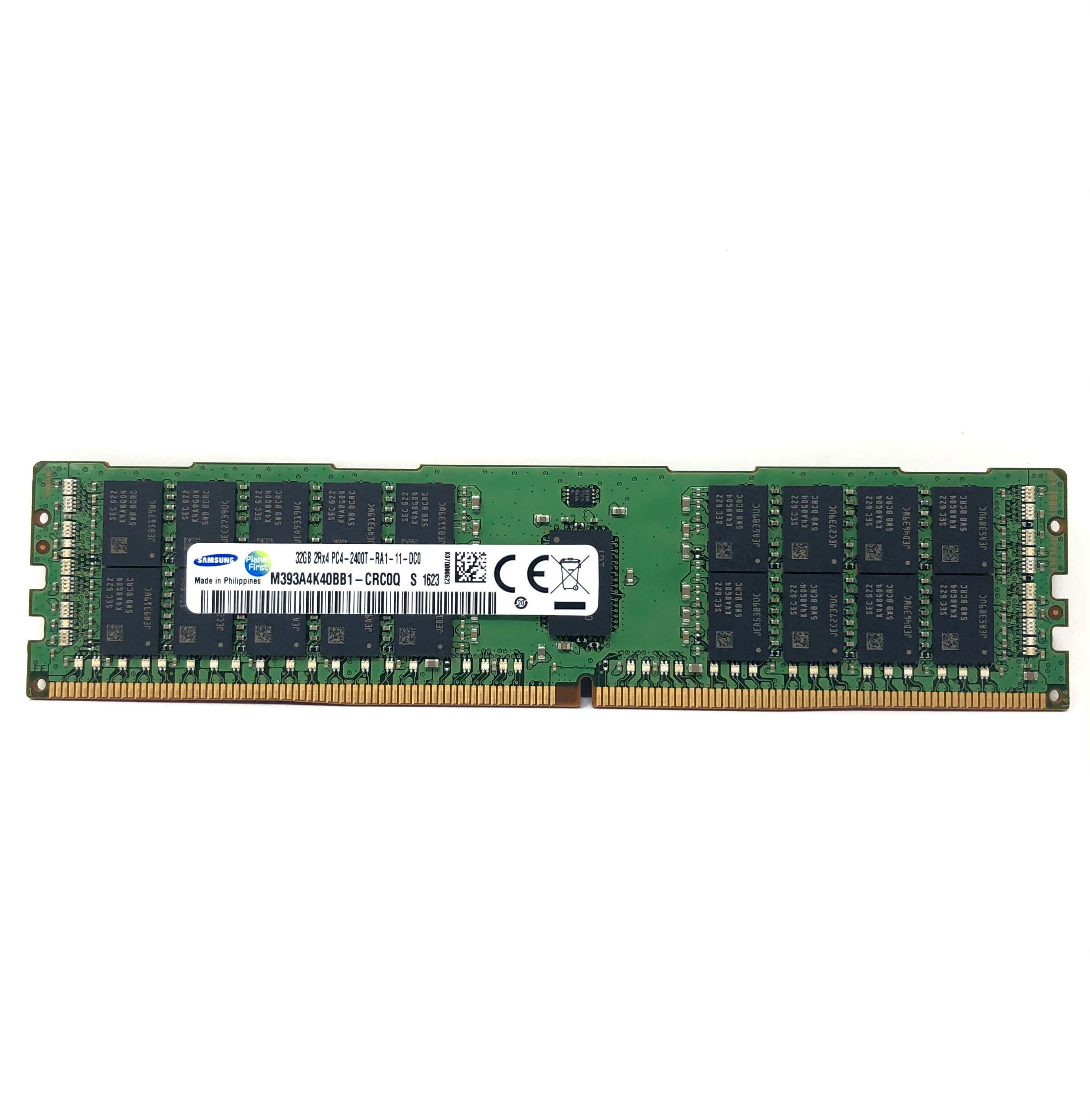 Samsung 32GB 2Rx4 PC4-2400T DDR4 ECC REG Server Memory (M393A4K40BB1-CRC0Q)