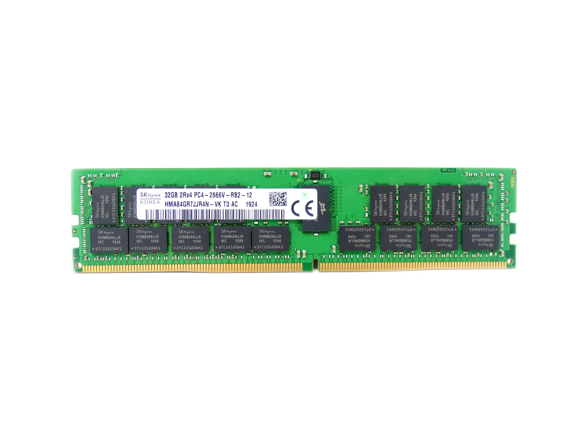 Hynix 32GB 2Rx4 PC4-21300 DDR4 2666MHz ECC Regulated RAM Memory (HMA84GR7JJR4N-VK)