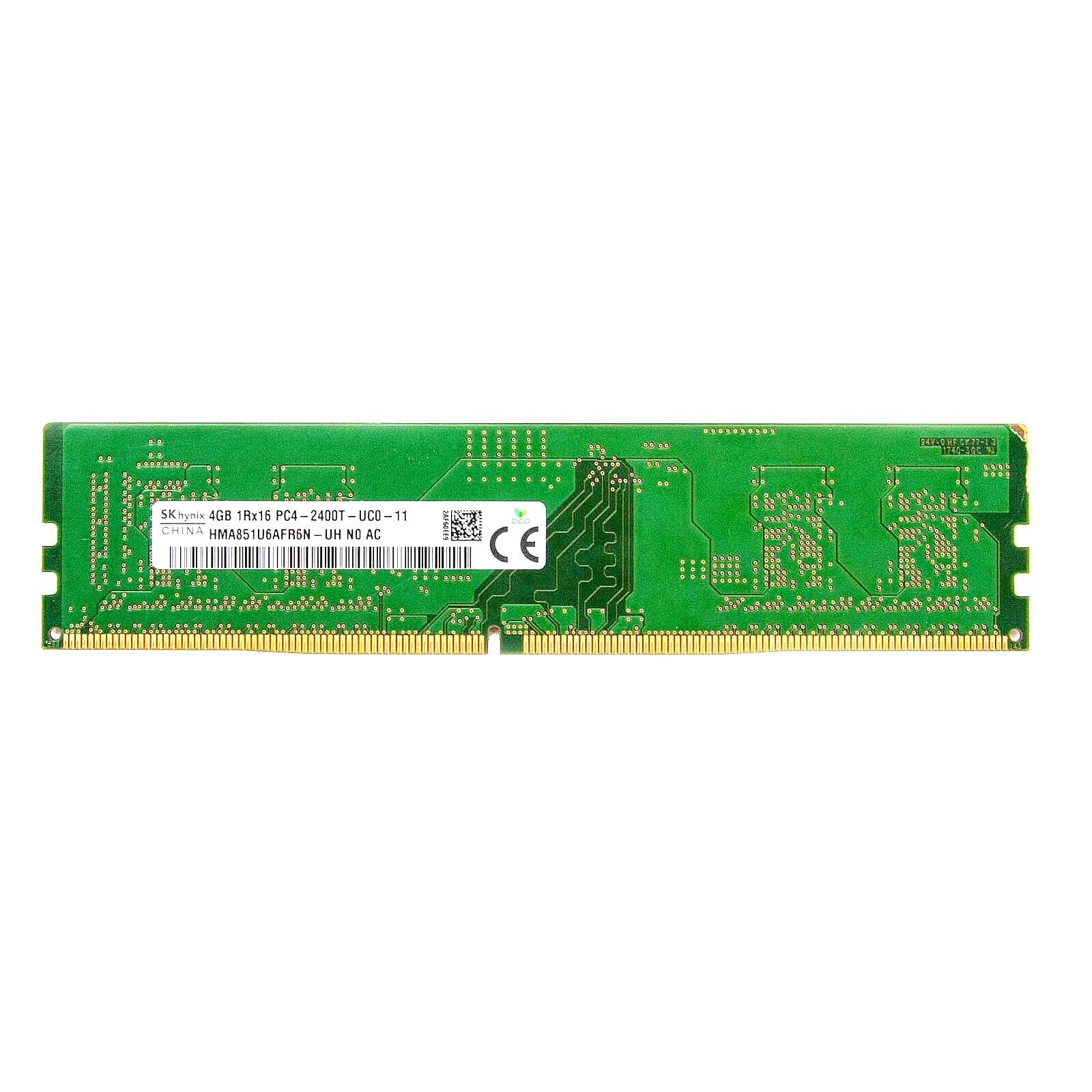 Hynix 4GB 1Rx16 PC4-19200 DDR4-2400MHz Non-ECC Unbuffered RAM Memory (HMA851U6AFR6N-UH)