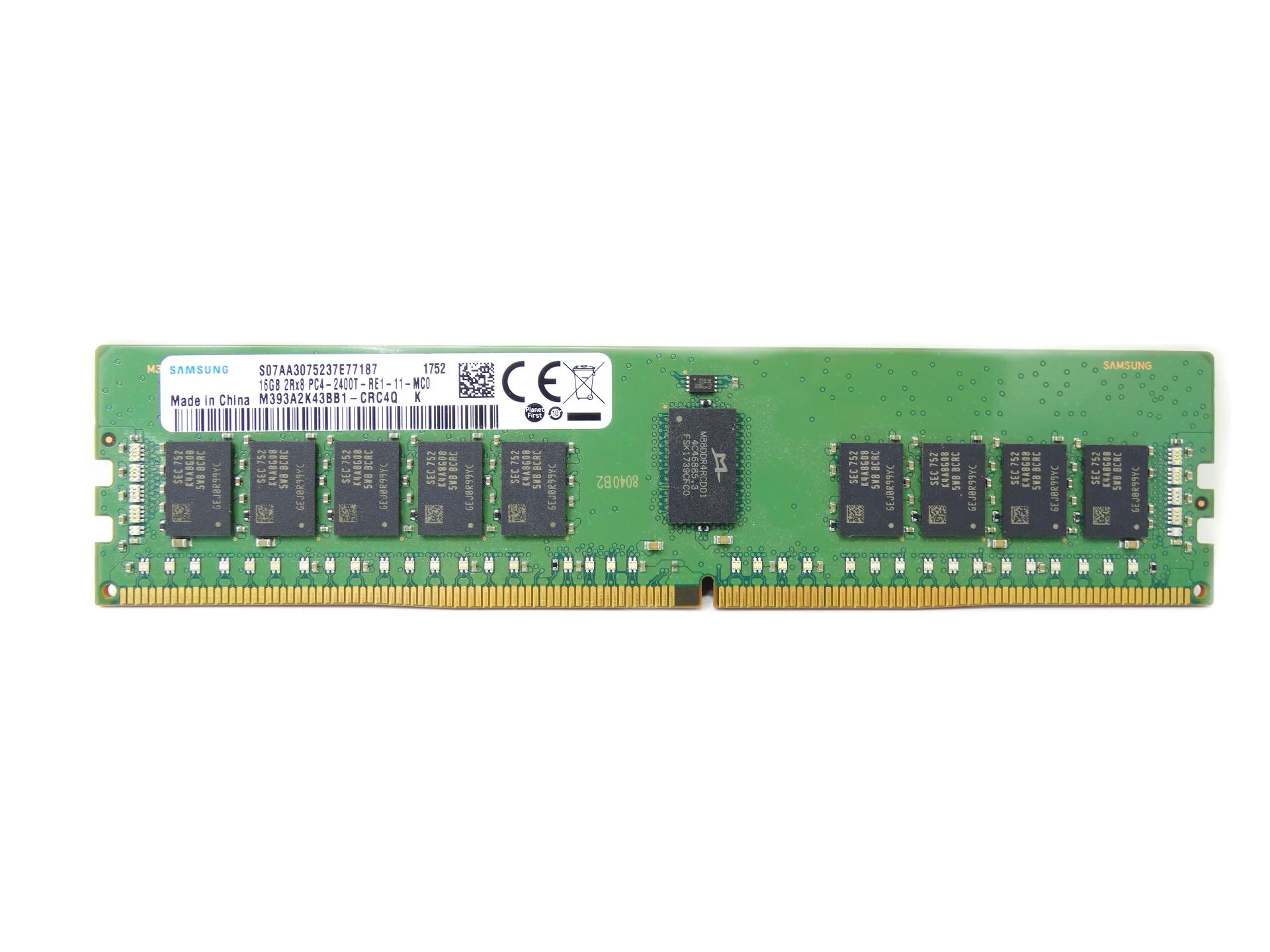 Samsung 16GB 2Rx8 PC4-2400T DDR4 2400MHz ECC Registered Memory (M393A2K43BB1-CRC4Q)