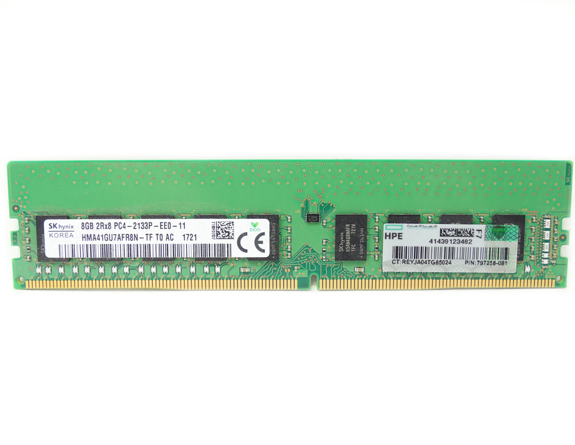 HP 8GB 2Rx8 PC4-17000 DDR4-2133MHz ECC Unbuffered DIMM RAM Memory (797258-081)