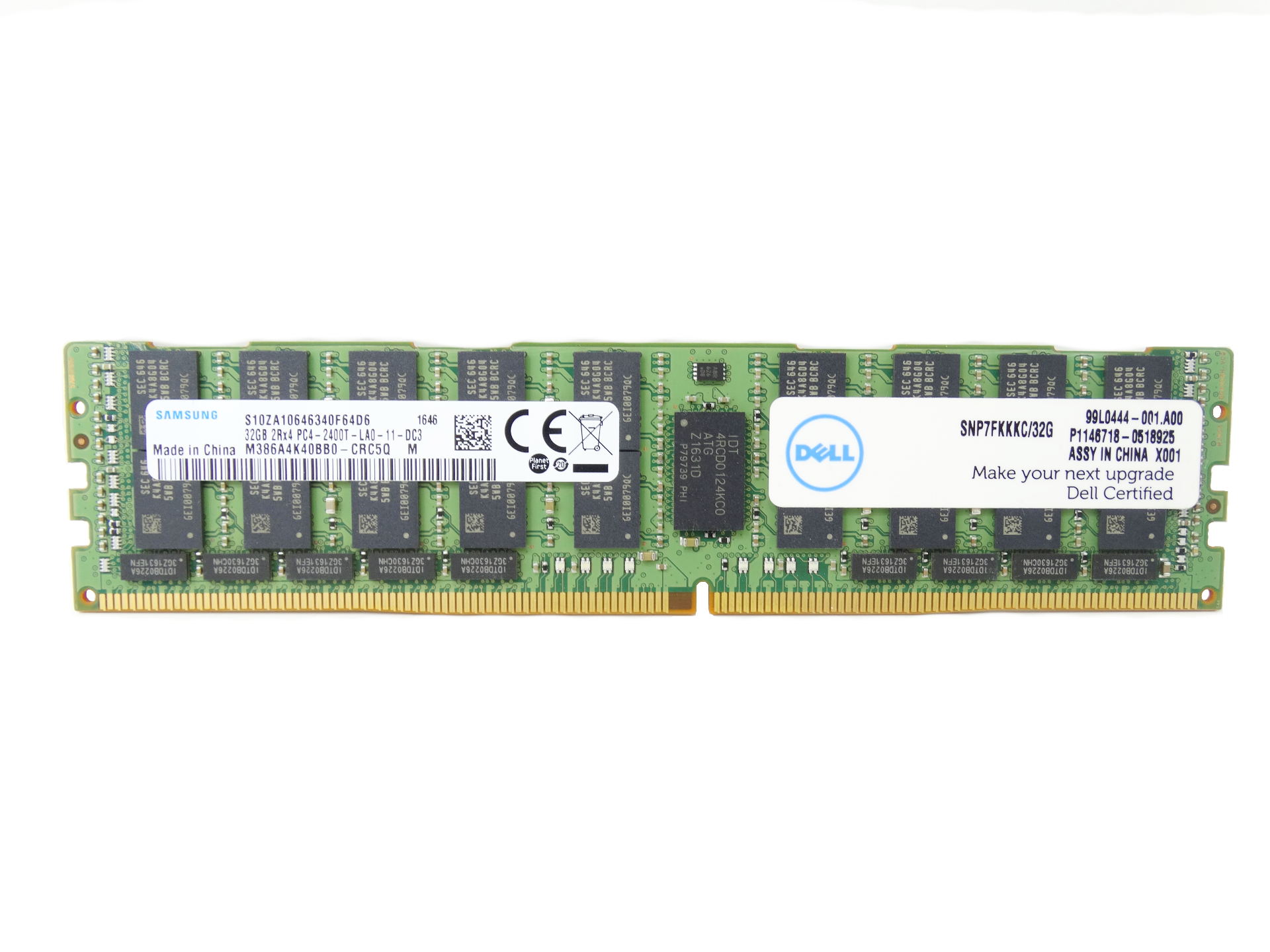 Dell 32GB 2Rx4 PC4-19200 DDR4-2400MHz ECC Regulated RAM Memory (SNP7FKKKC/32G)