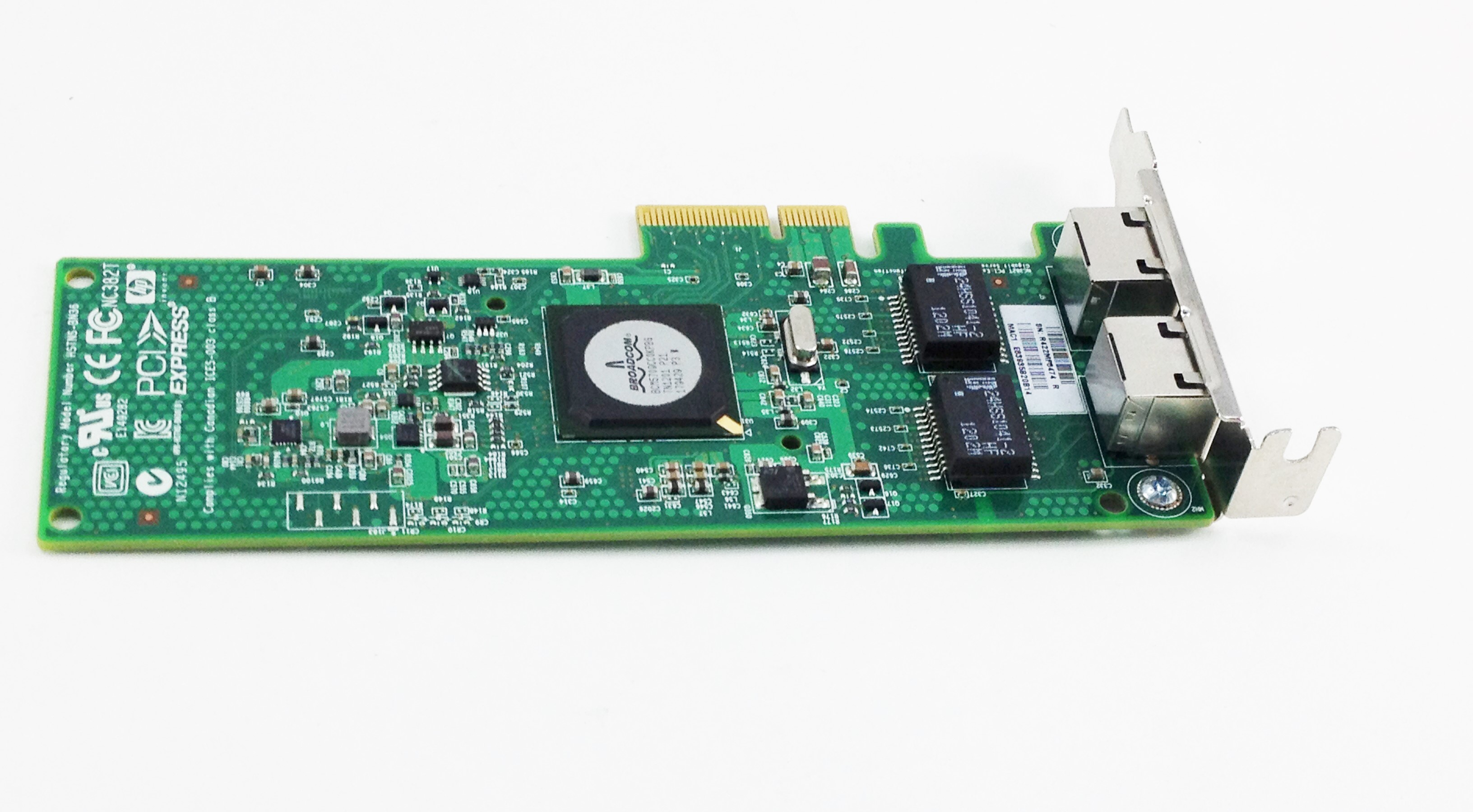 HP NC382T PCI-E DUAL PORT MULTIFUNCTION GIGABIT SERVER ADAPTER (458491-001)