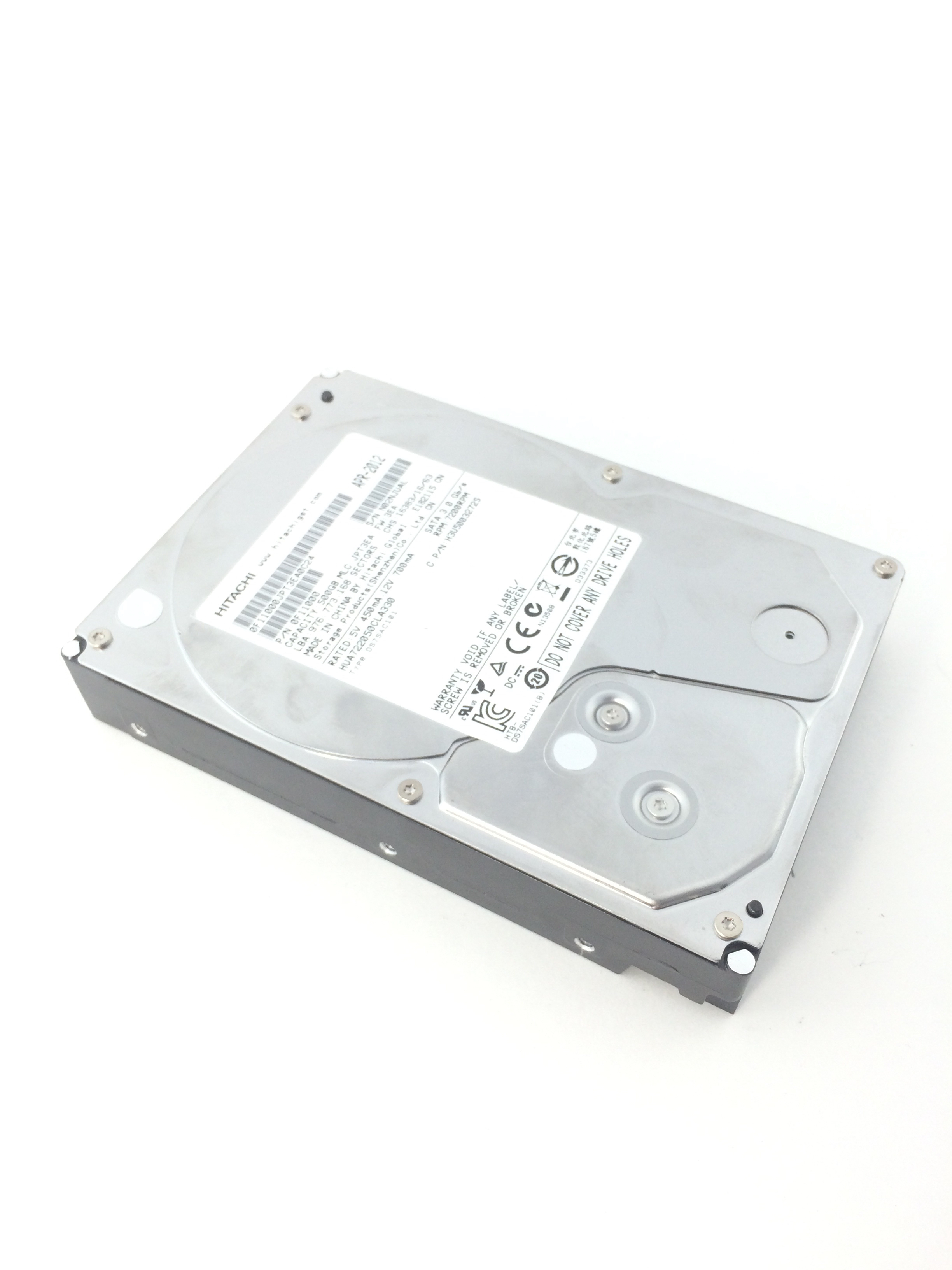 HITACHI 500GB 7.2K 3GB/S SATA 3.5'' HARD DRIVE (0F11000)