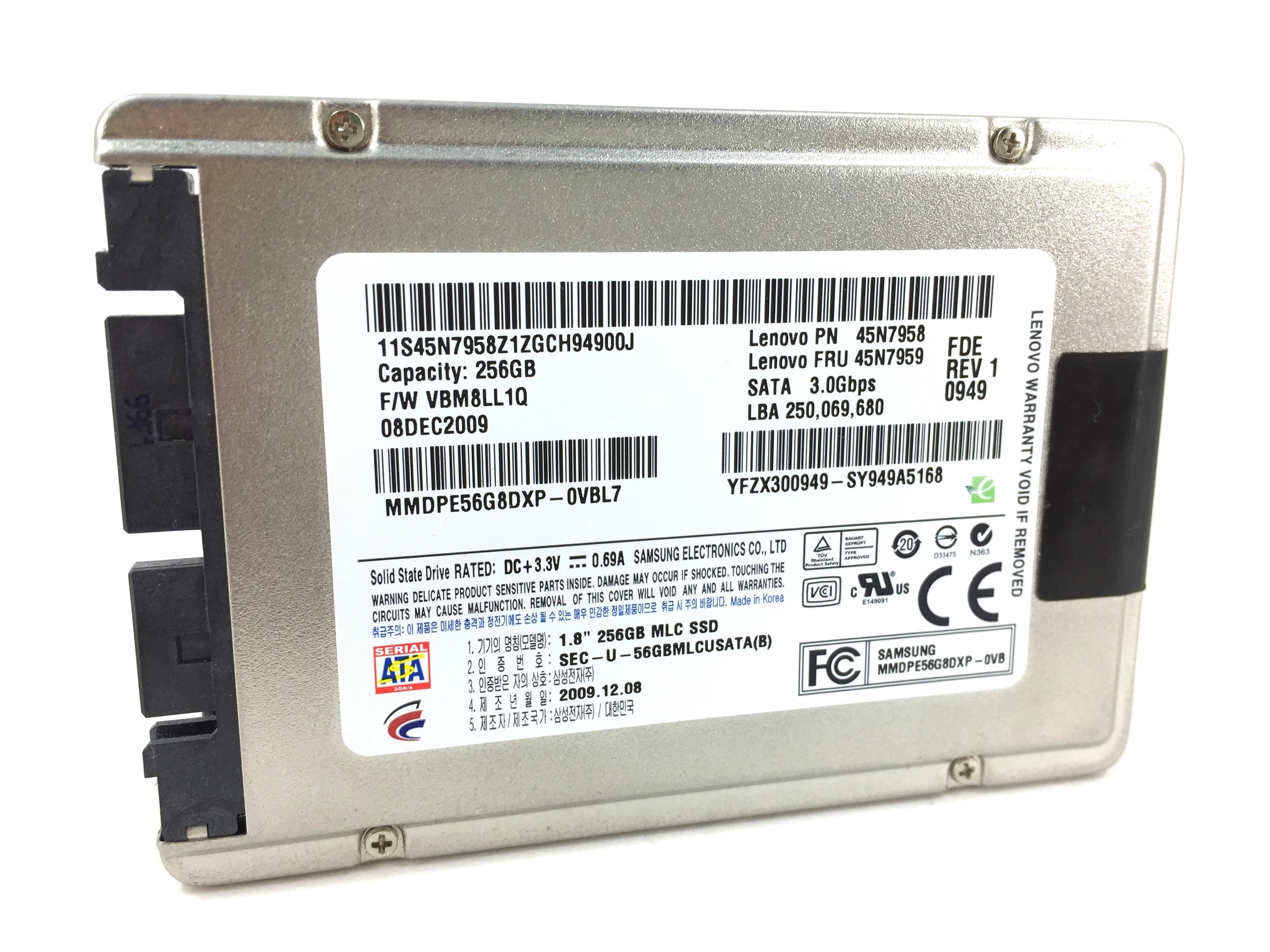 LENOVO 256GB MICRO SATA 1.8''  MLC SOLID STATE DRIVE (45N7959)