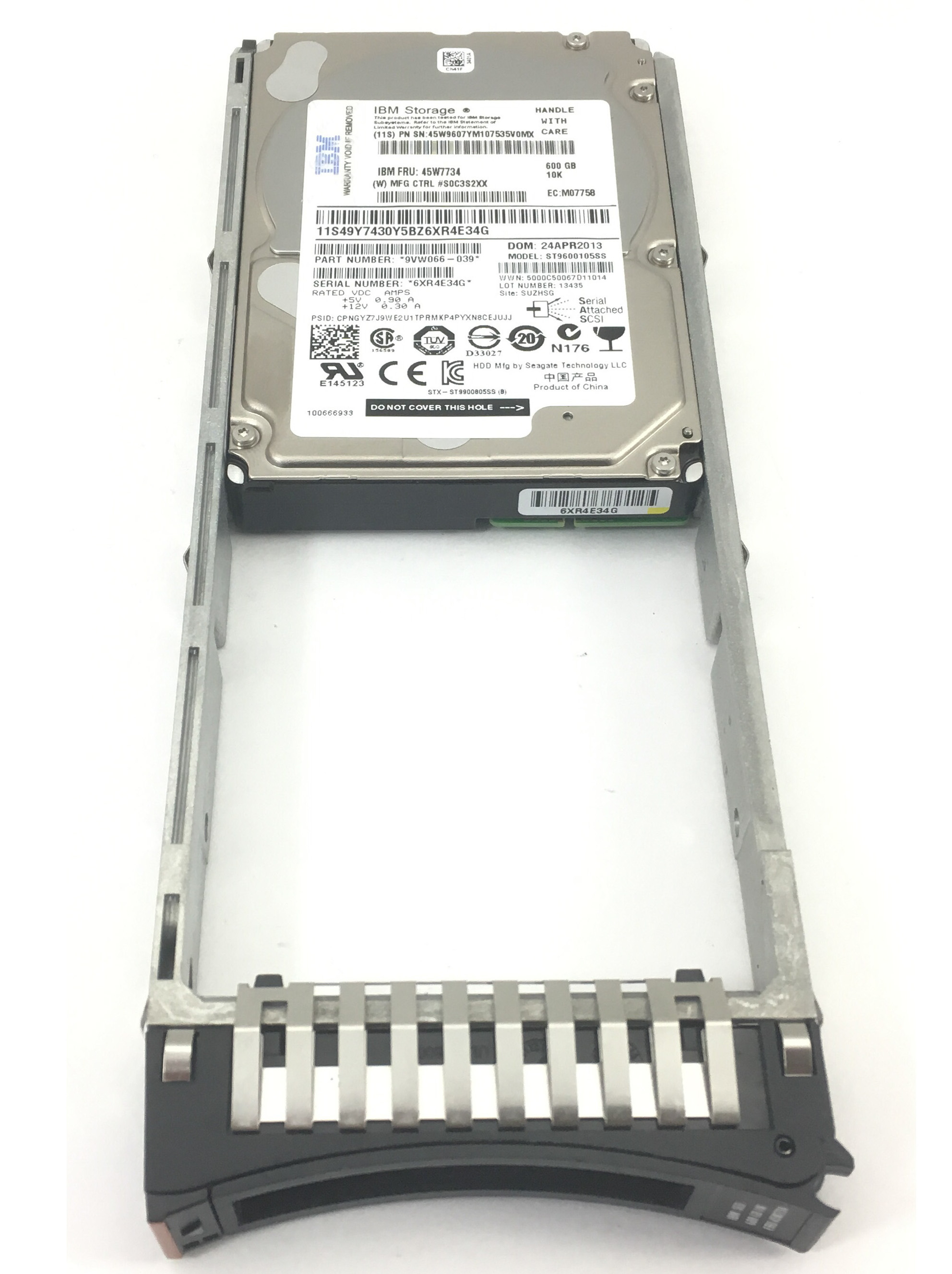 IBM 600GB 10K 6GBPS SAS 2.5'' HARD DRIVE (45W7734)