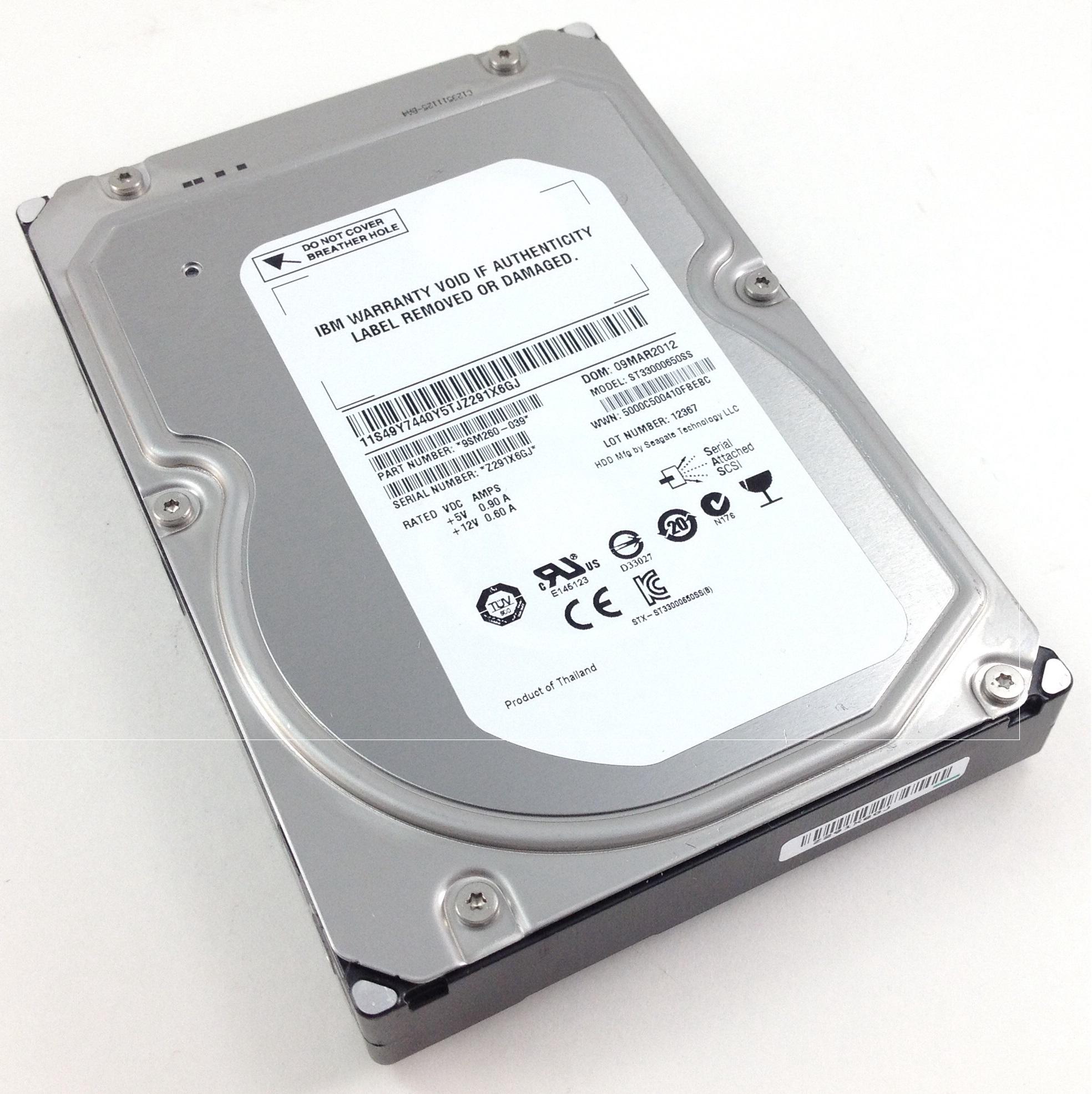 IBM 3TB 7.2K 6Gbps SAS 3.5'' Hard Drive (49Y7440)