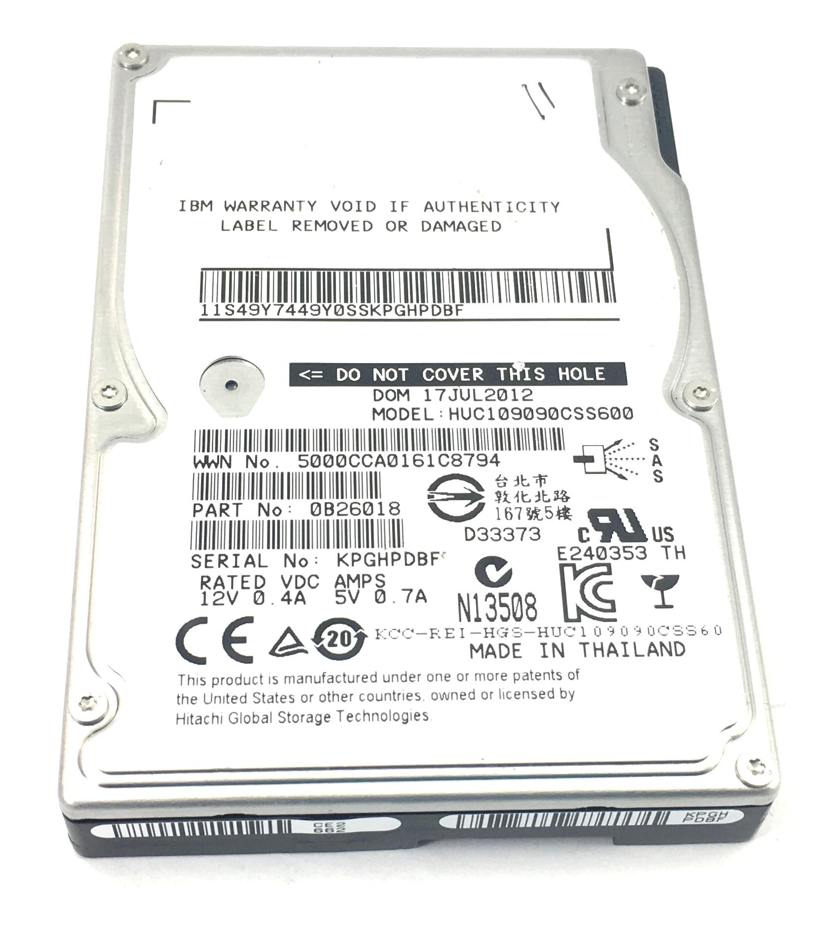 IBM 900GB 10K 6GBPS SAS 2.5'' HARD DRIVE (49Y7449)