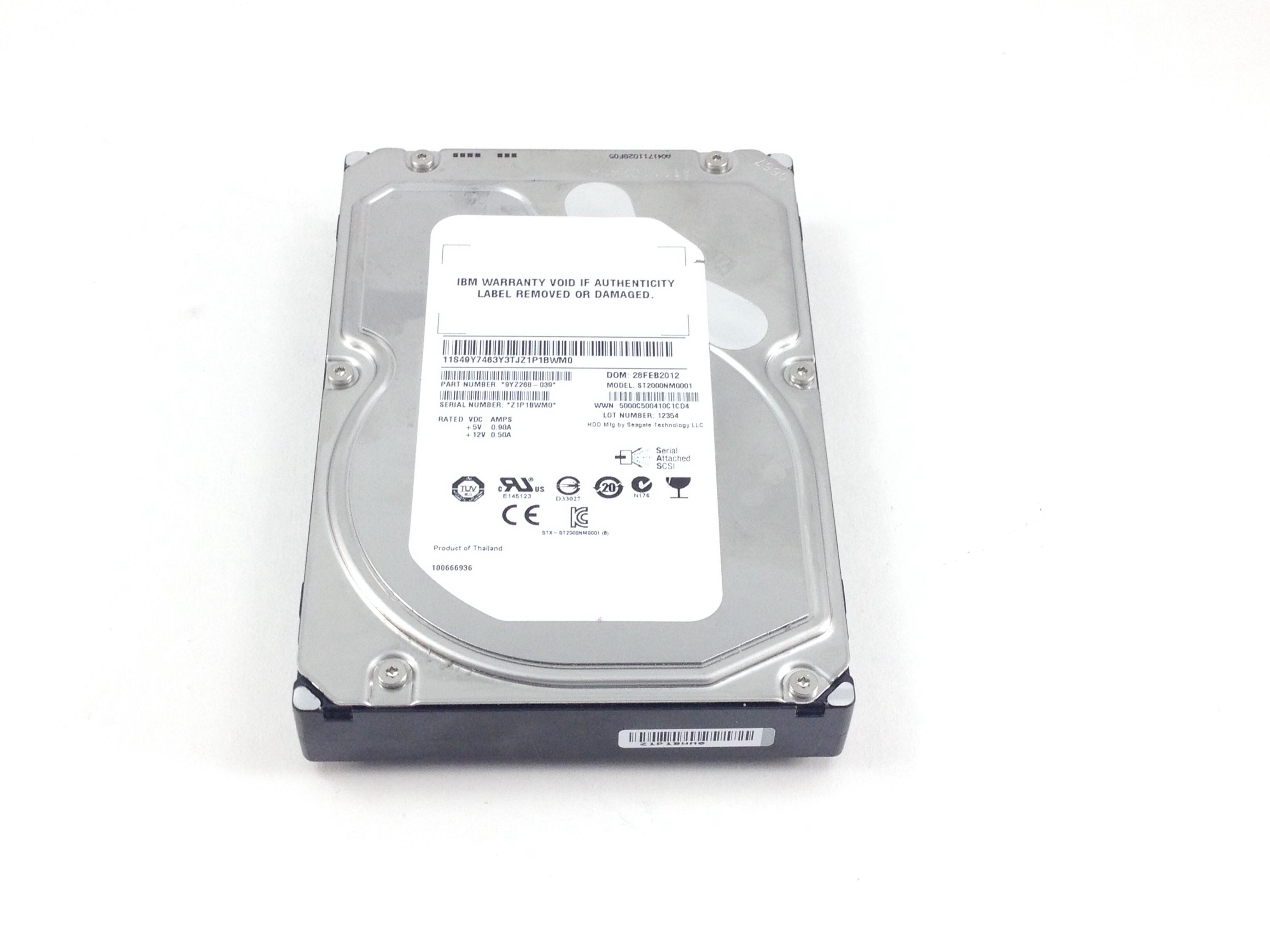 IBM 2TB 7.2K 6GBPS SAS 3.5'' HARD DRIVE (49Y7463)