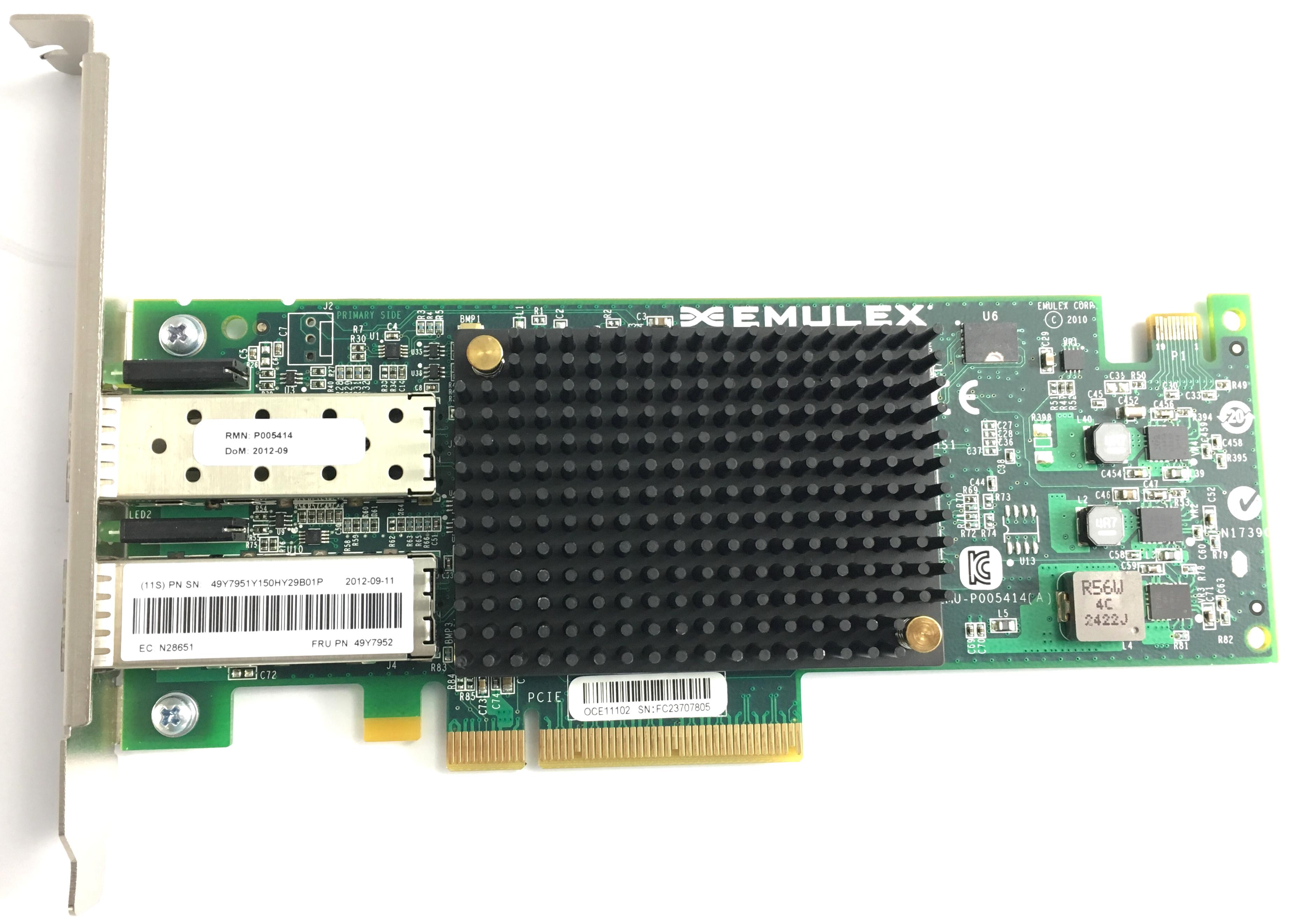 Emulex 10 Gigabit Ethernet Virtual Fabric Adapters (49Y7952)