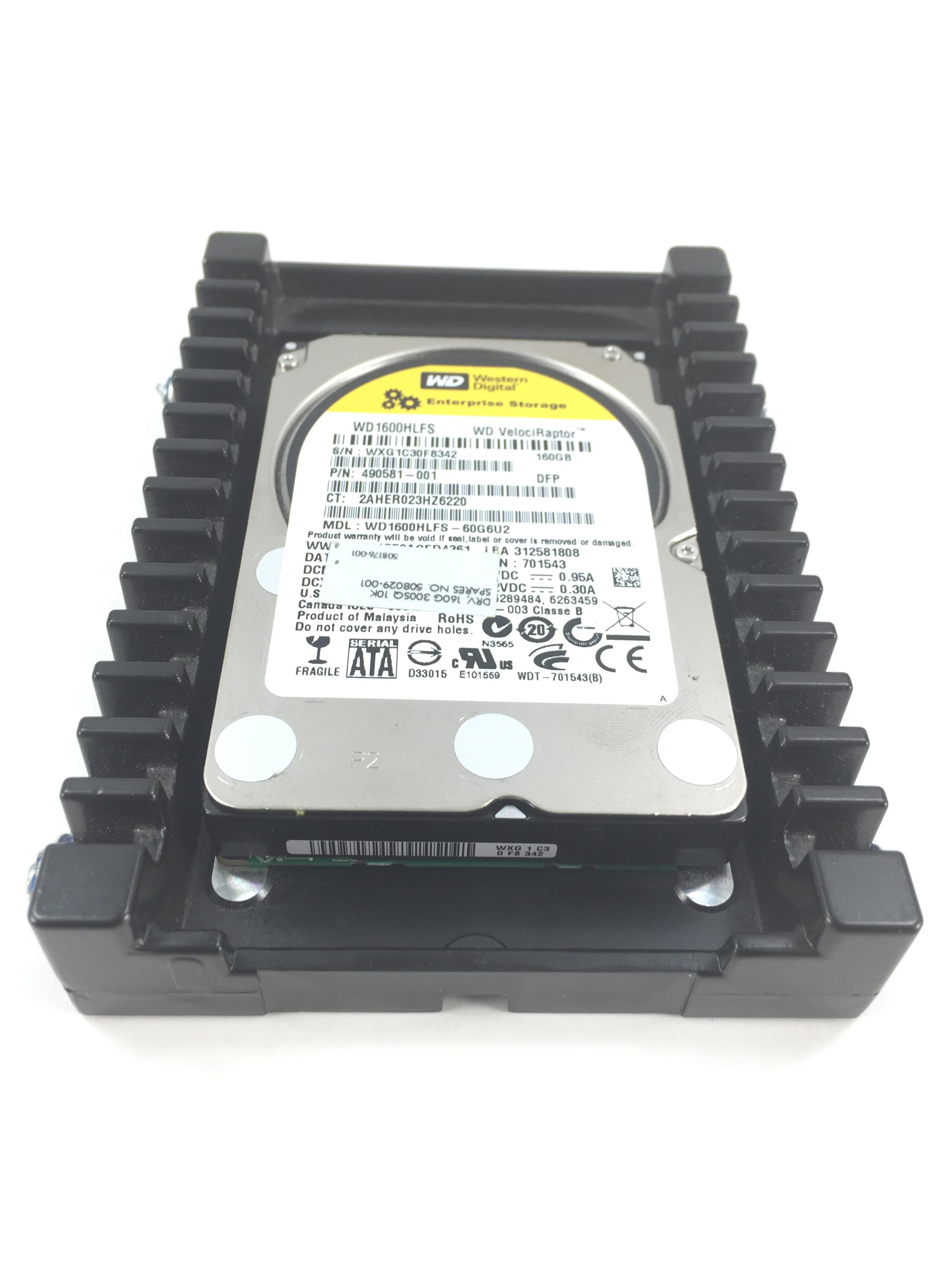 HP Wd Velociraptor 160GB 10K 3Gbps SATA 3.5'' Hard Drive (508029-001)