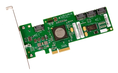 HP Lsi Logic SAS3041E 4-Port PCI-E Host Bus Adapter (510359-001)
