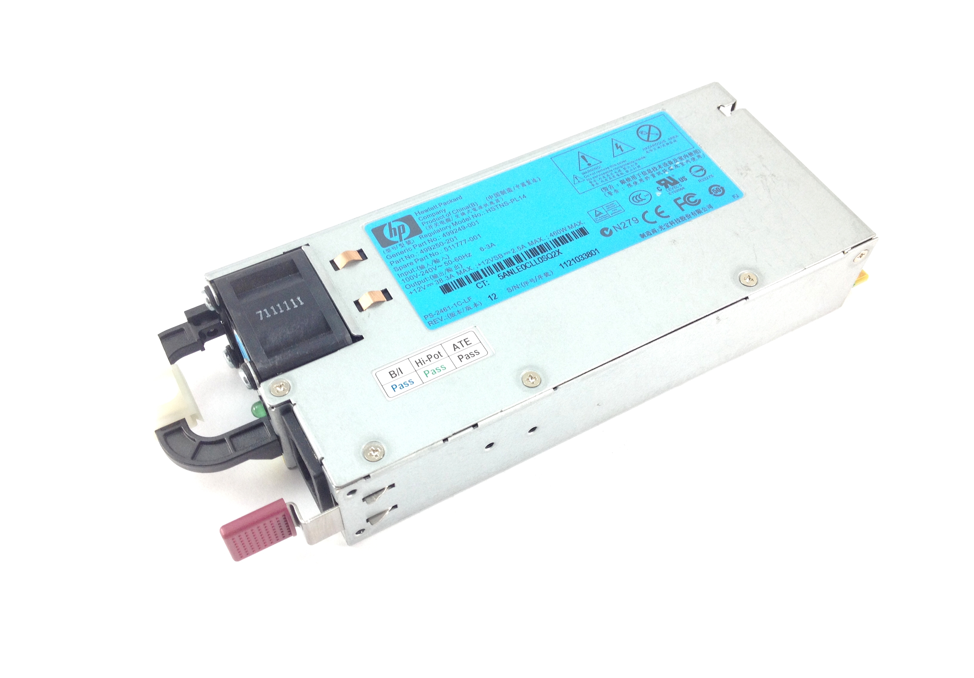 HP DL180/DL360/DL380/DL385/ML370 G6/G7/G8 460W Power Supply (511777-001)