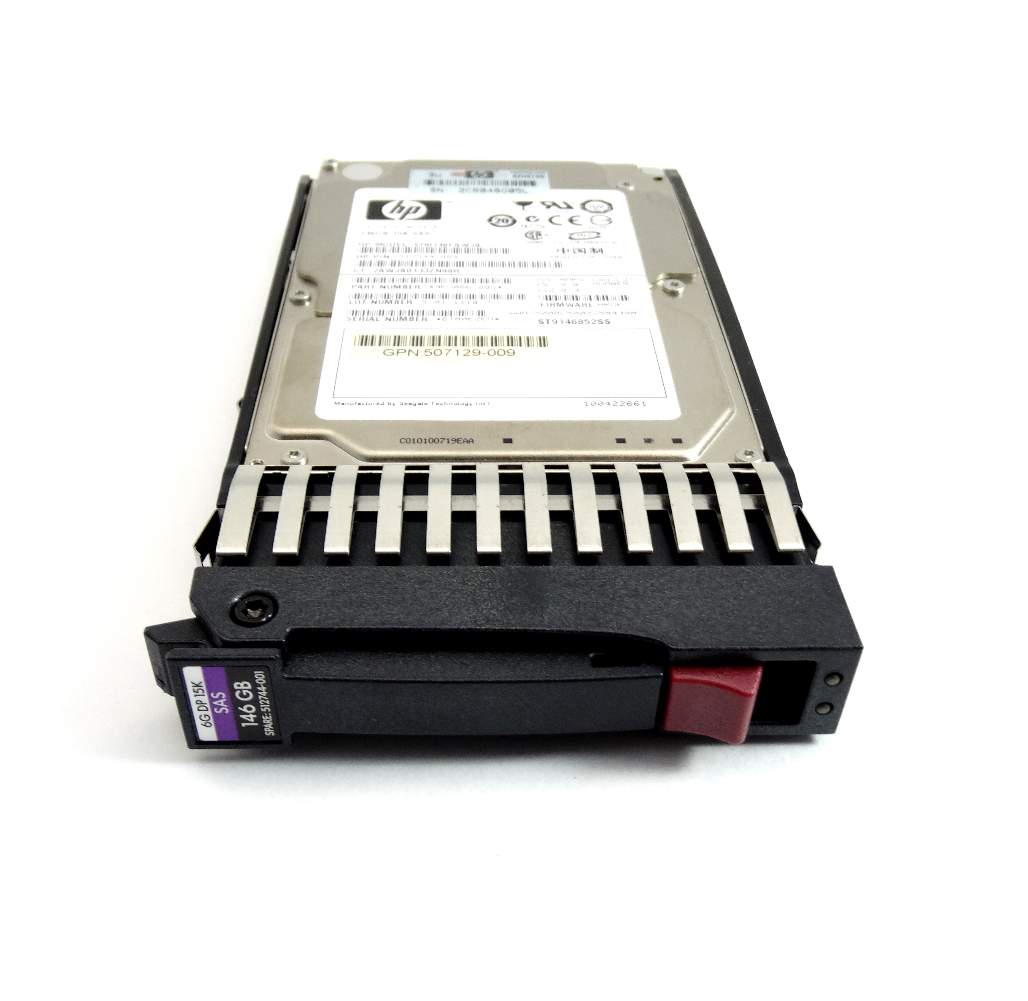 HP 146GB 15K 6GBPS SAS 2.5'' HARD DRIVE (512744-001)