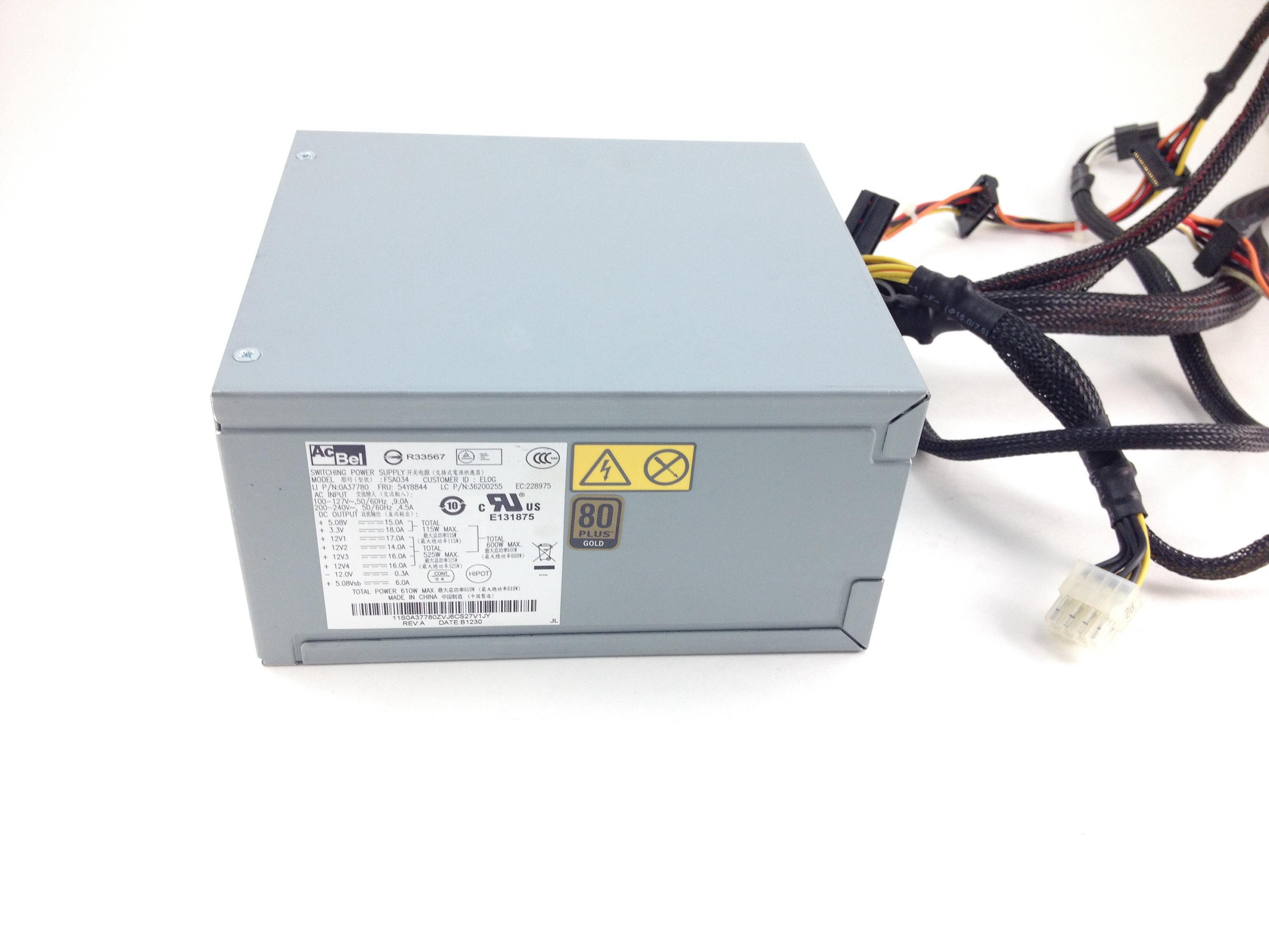 IBM 610W Thinkstation S30 Power Supply (54Y8844)