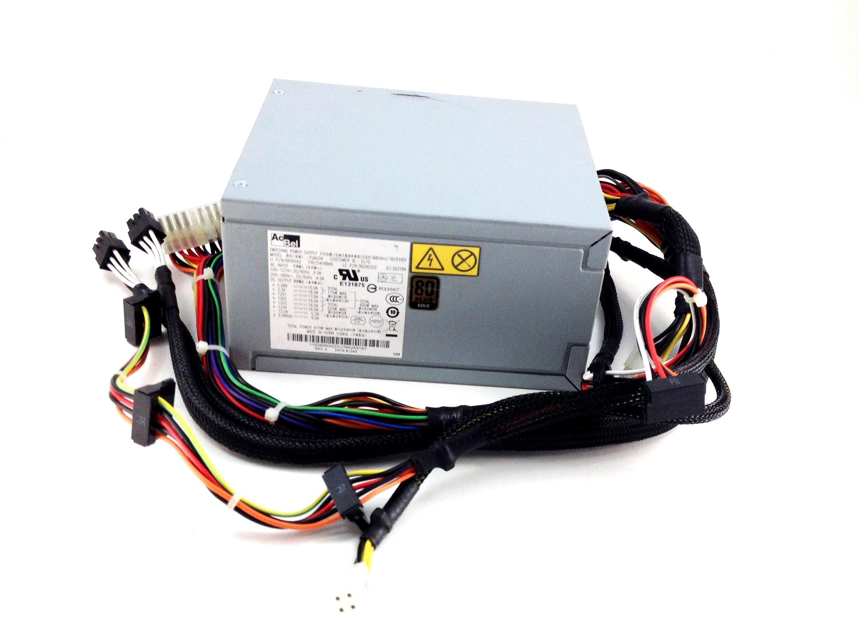 IBM Lenovo Thinkstation S30 610-Watts Power Supply (54Y8866)
