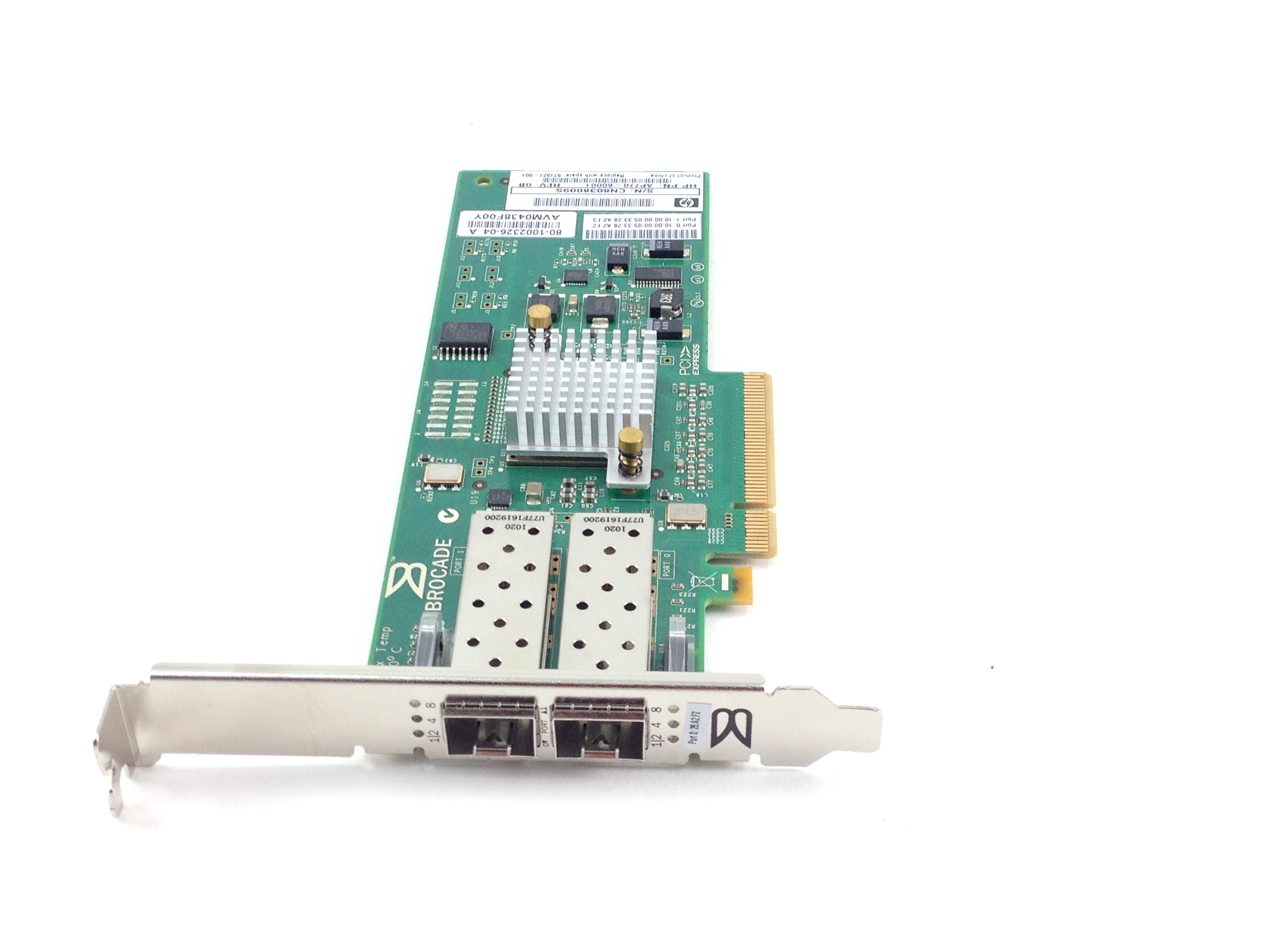 HP AP770A  82B 8GB PCI-E FIBRE CHANNEL DUAL PORT HOST BUS ADAPTER (571521-001)