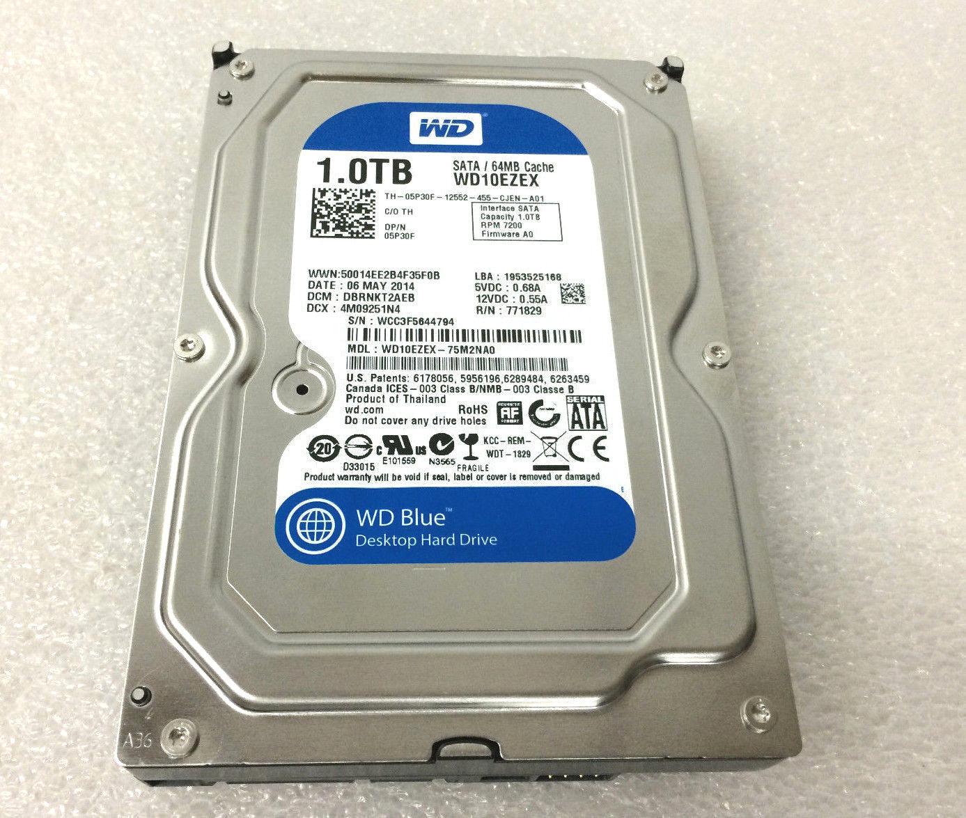 Dell Western Digital 1TB 7.2K 6GBPS 64MB Cache SATA 3.5'' Hard Drive (5P30F)