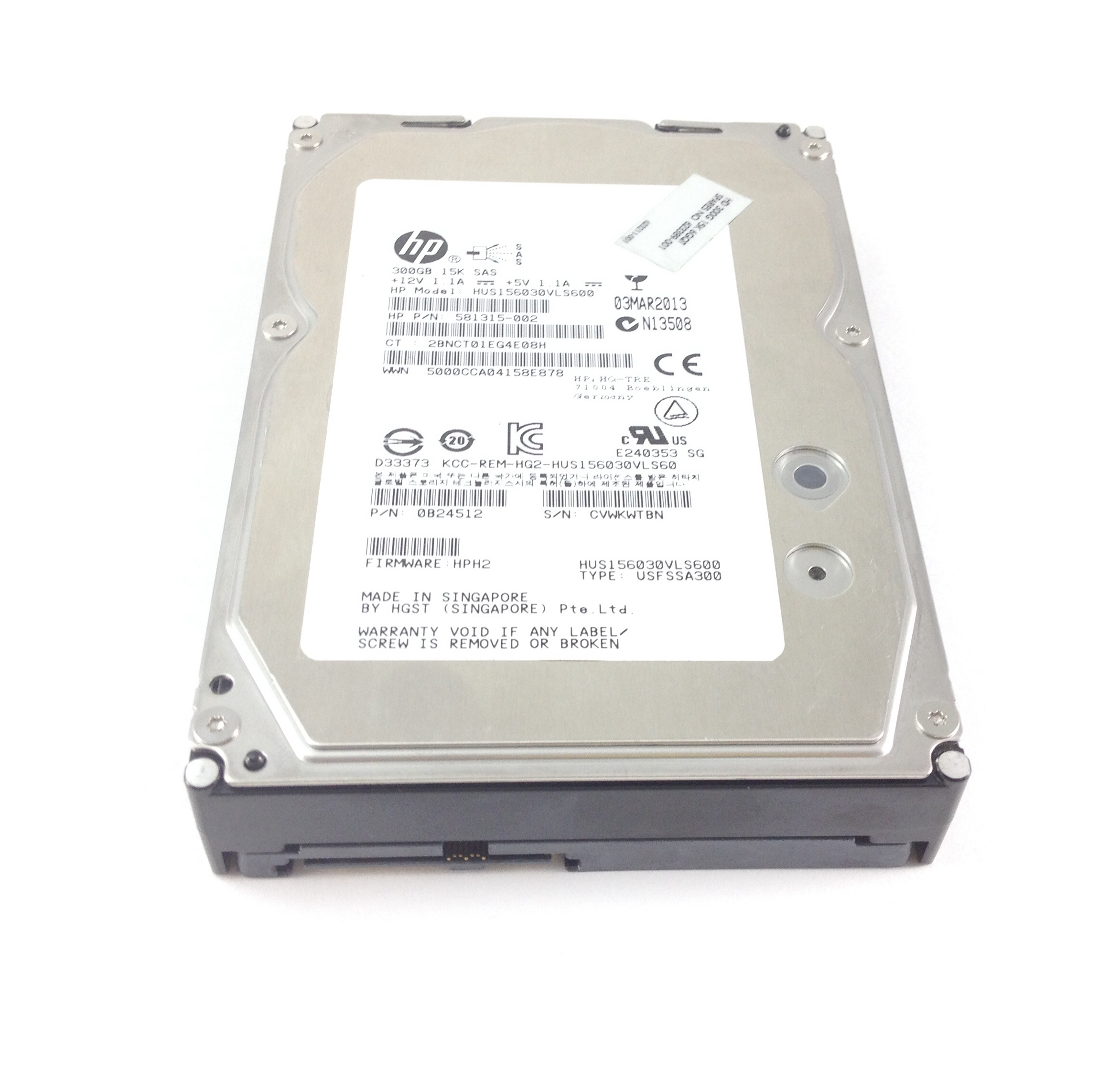 HP Hitachi Ultrastar 300GB 6Gbps 15K SAS 3.5'' HDD (623389-001)