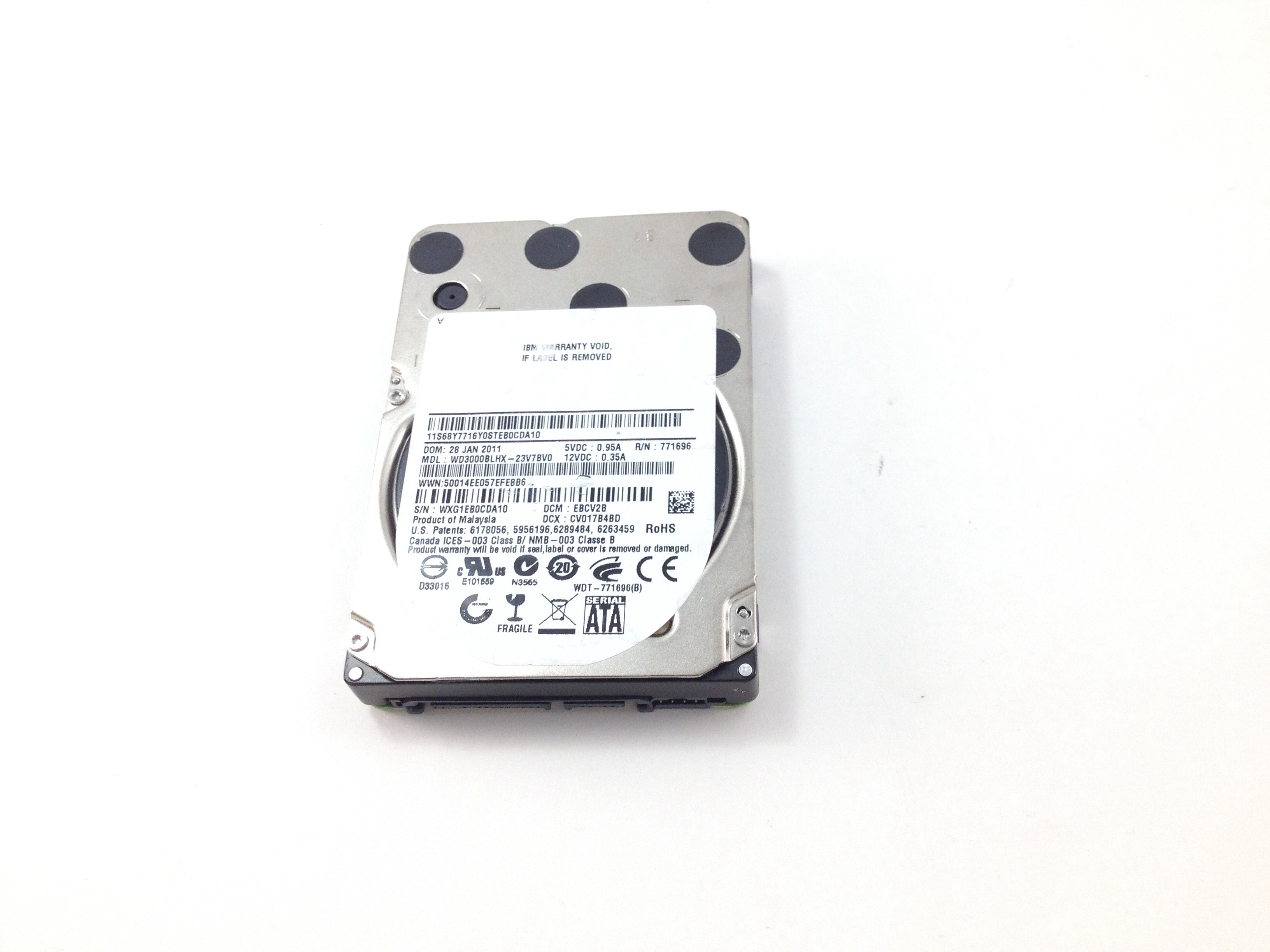 IBM 300GB 10K SATA 2.5'' Hard Drive (68Y7716)