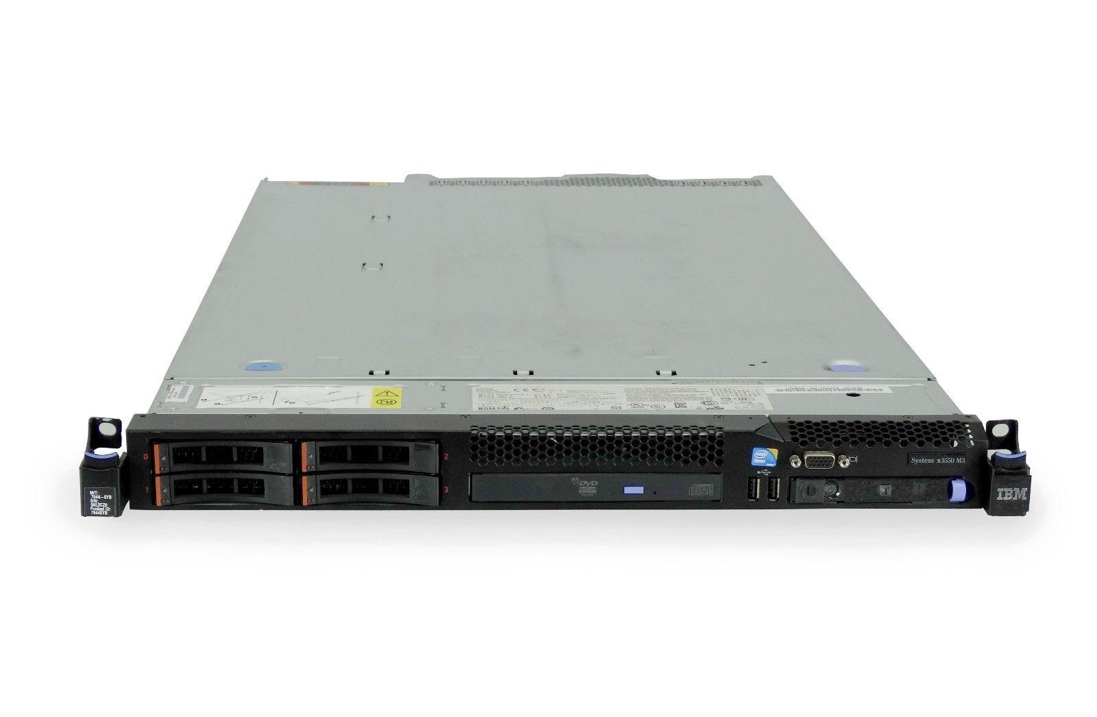 Lenovo System x3550 M3 4-Bay SFF 1U Rackmount Server