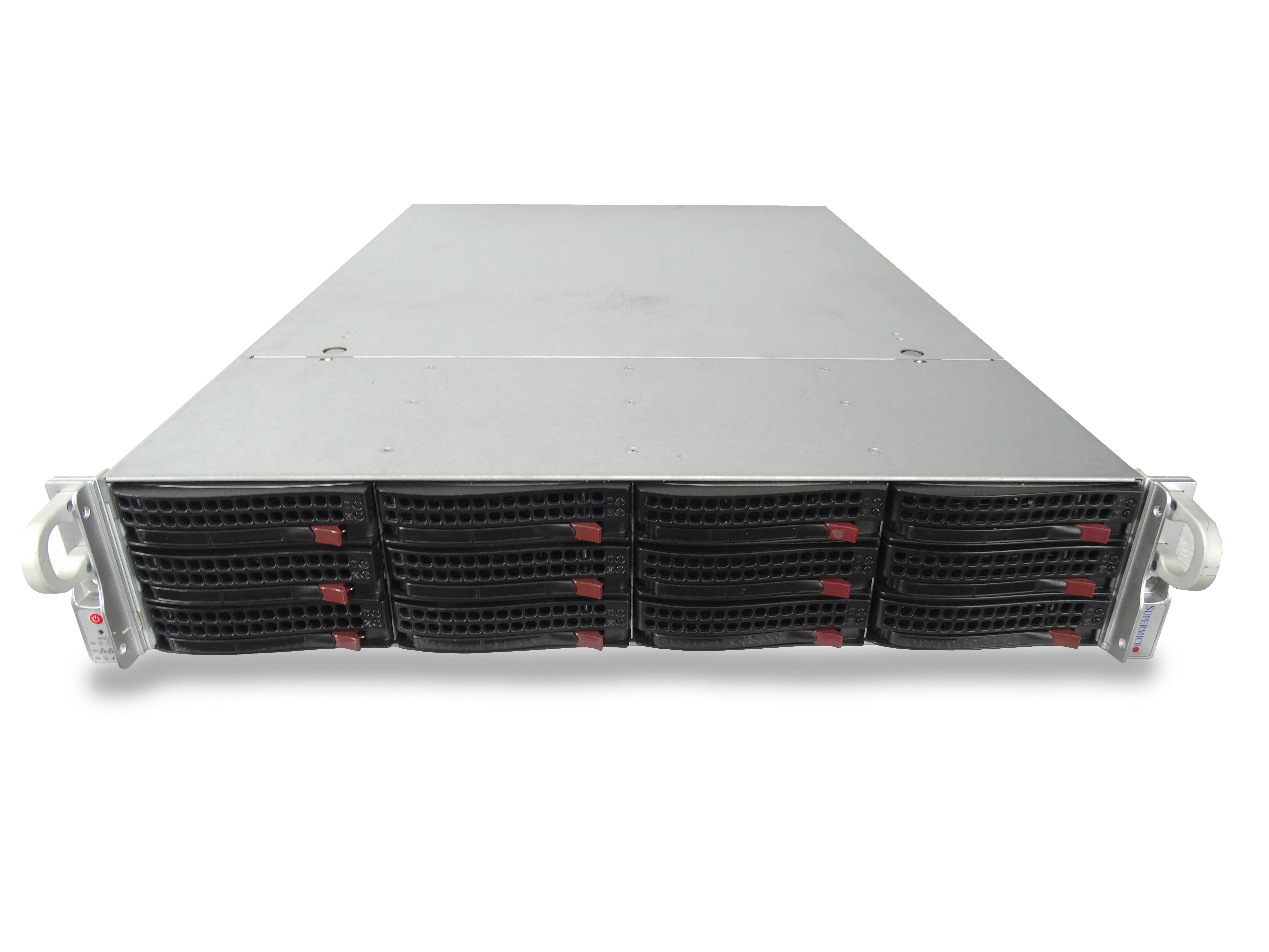 Supermicro SuperServer 6027R 12-Bay LFF 2U Server with X9DRi-LN4F+ Motherboard